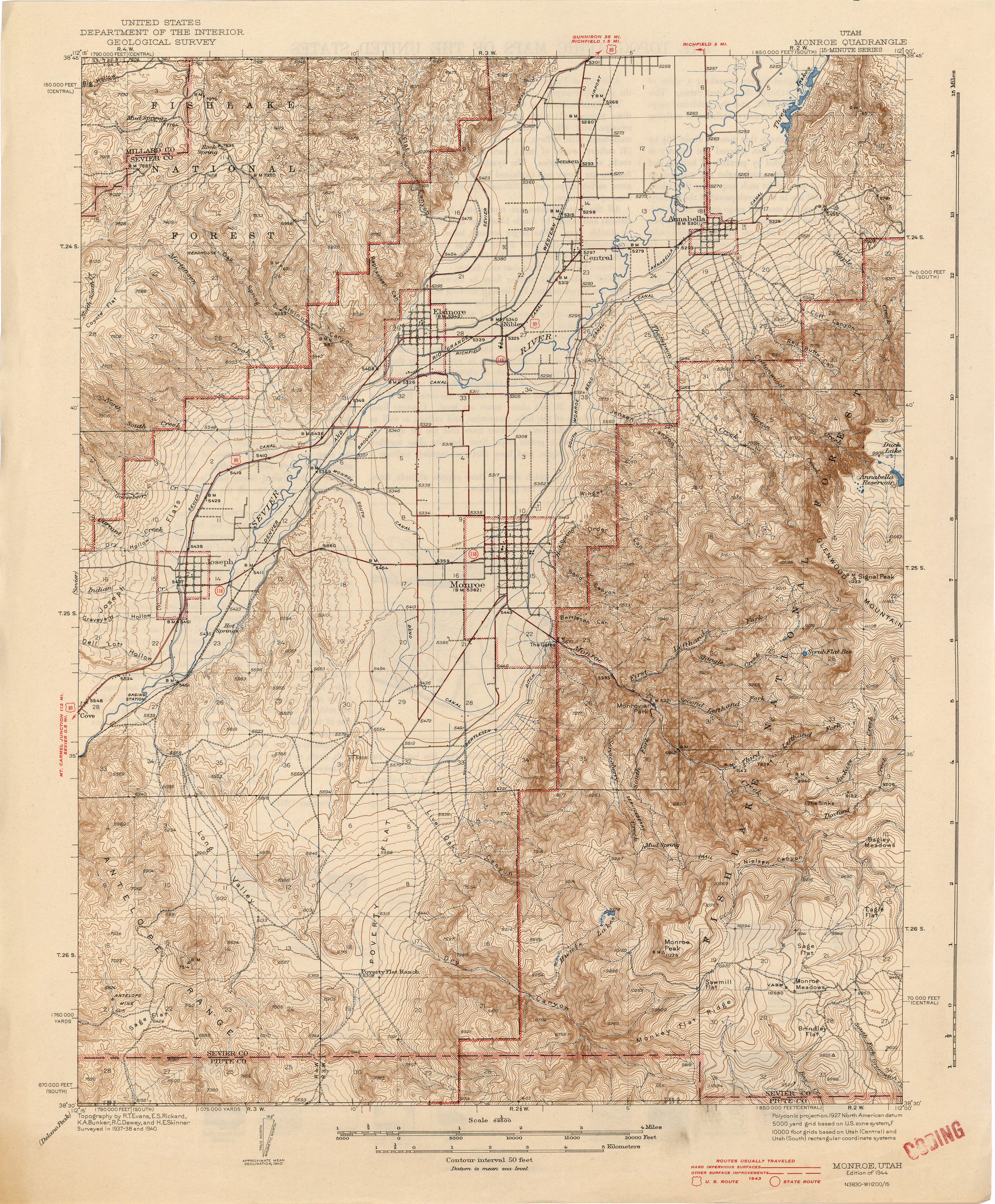 Utah Historical Topographic Maps Perry Castaneda Map Collection