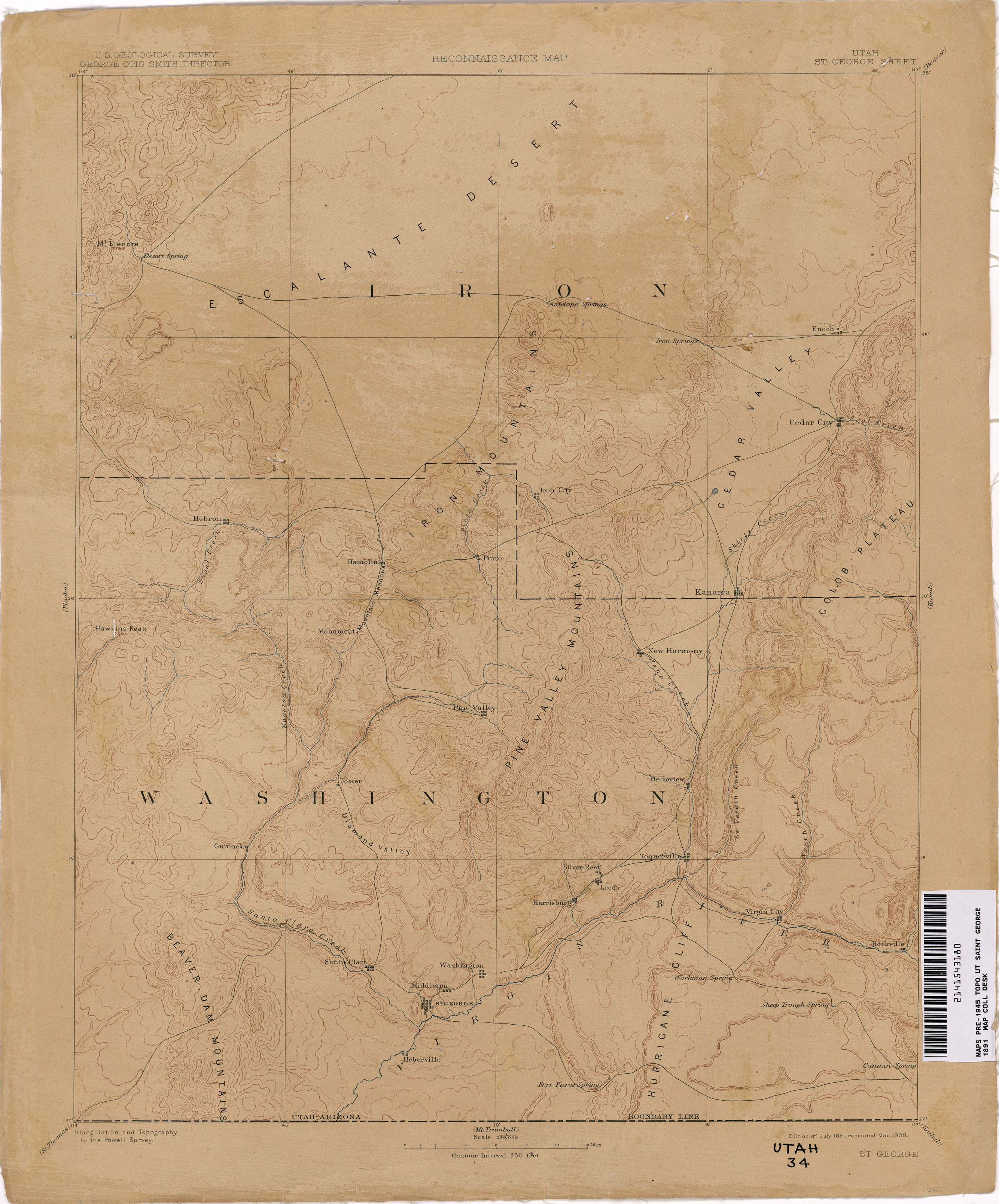 Utah Historical Topographic Maps PerryCastaeda Map Collection