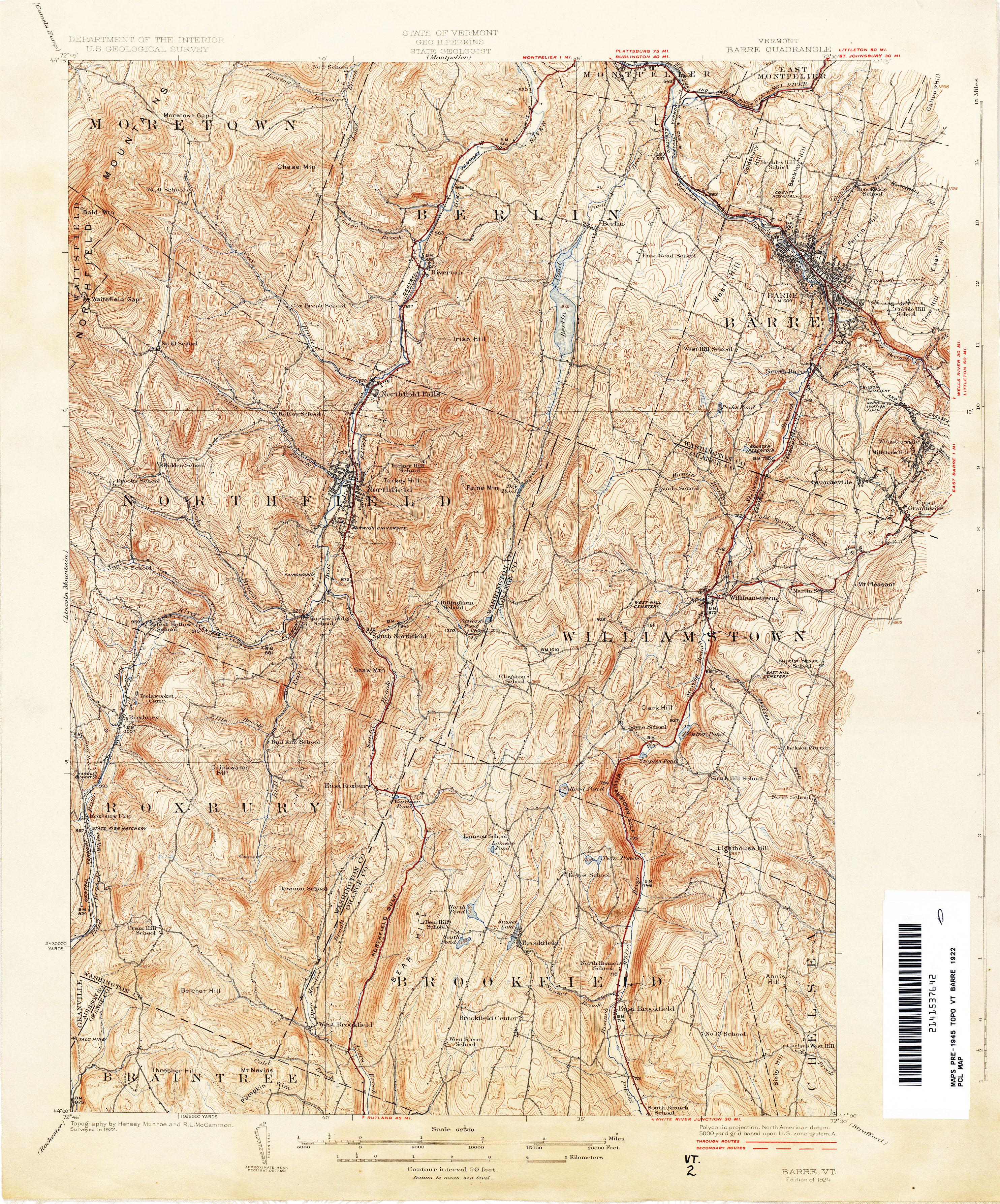 Vermont Topographic Map Vermont Historical Topographic Maps   Perry Castañeda Map