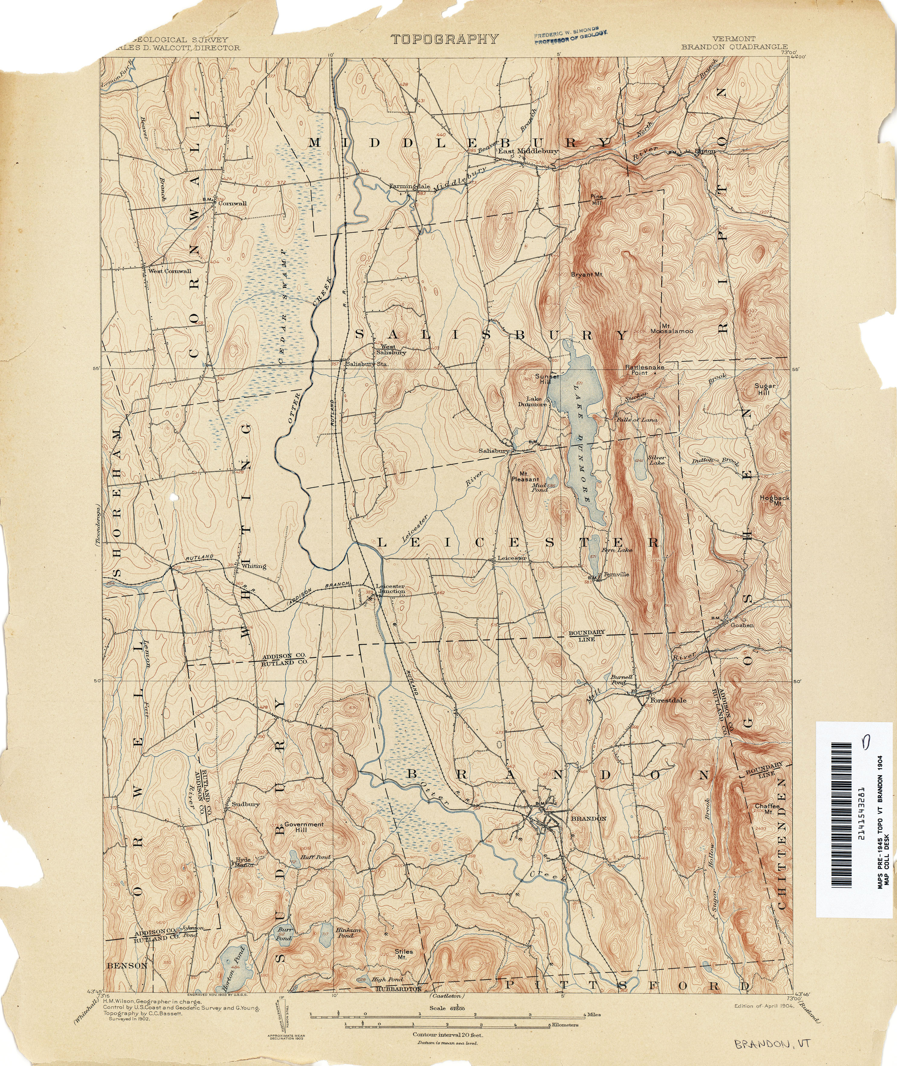 Vermont Historical Topographic Maps - Perry-Castañeda Map Collection ...