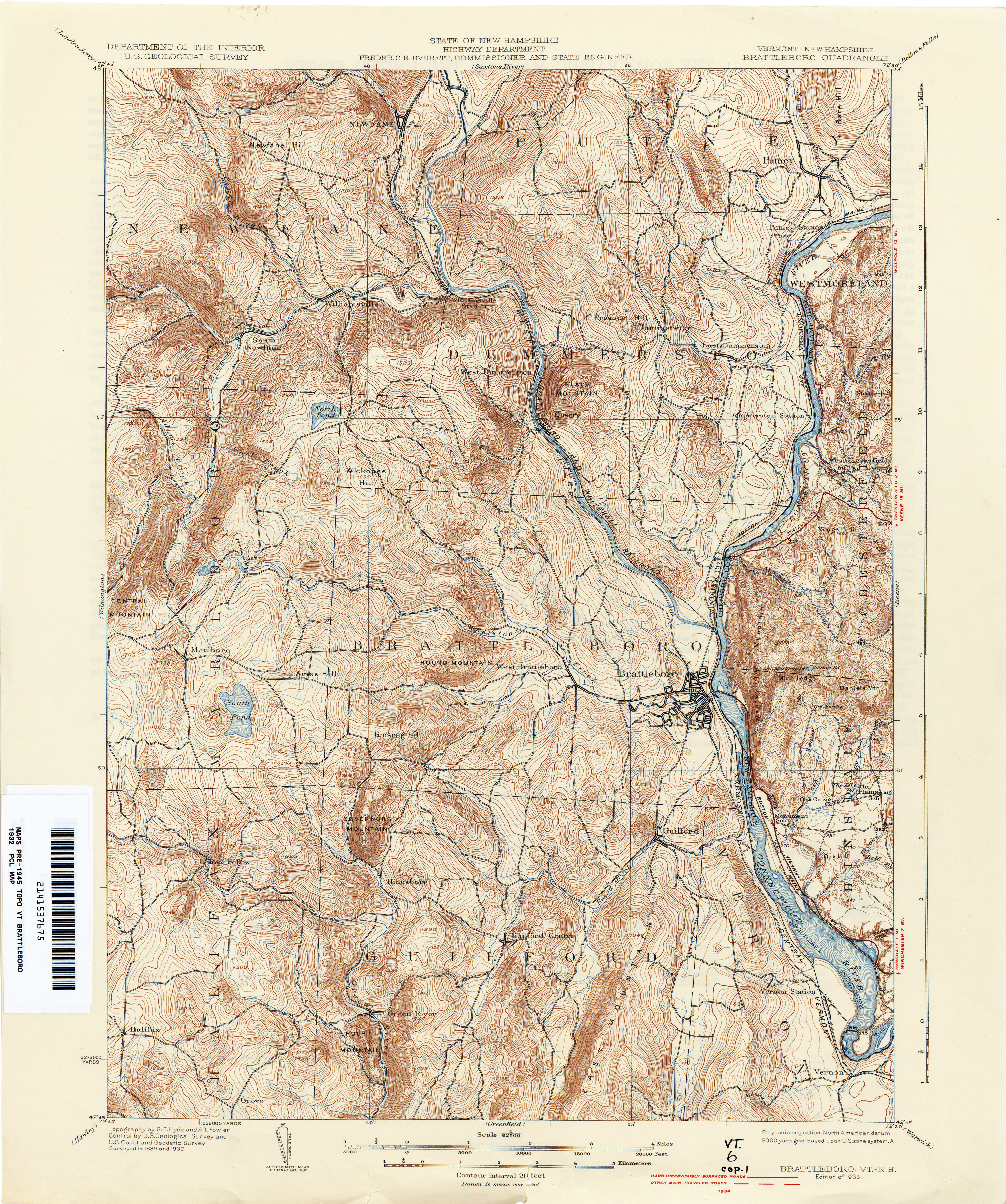 Vermont Historical Topographic Maps PerryCastaeda Map Collection