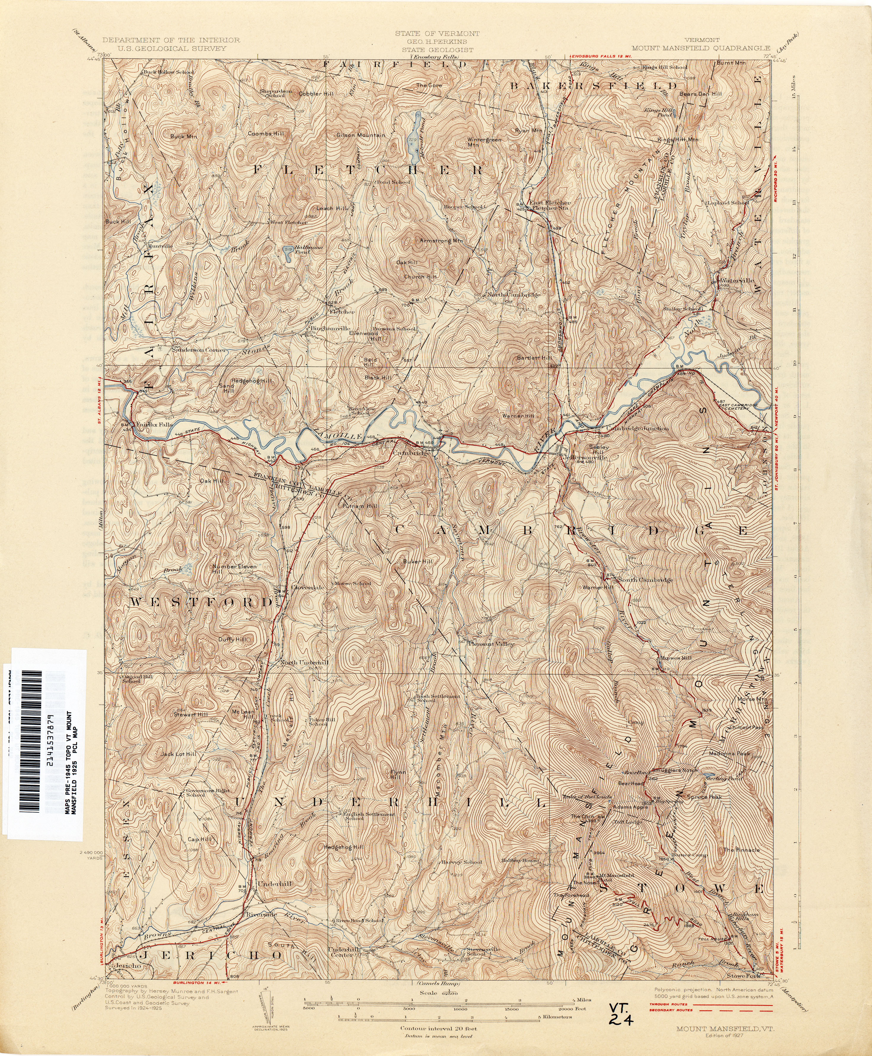 Vermont Historical Topographic Maps PerryCastañeda Map Collection - Mt topo maps