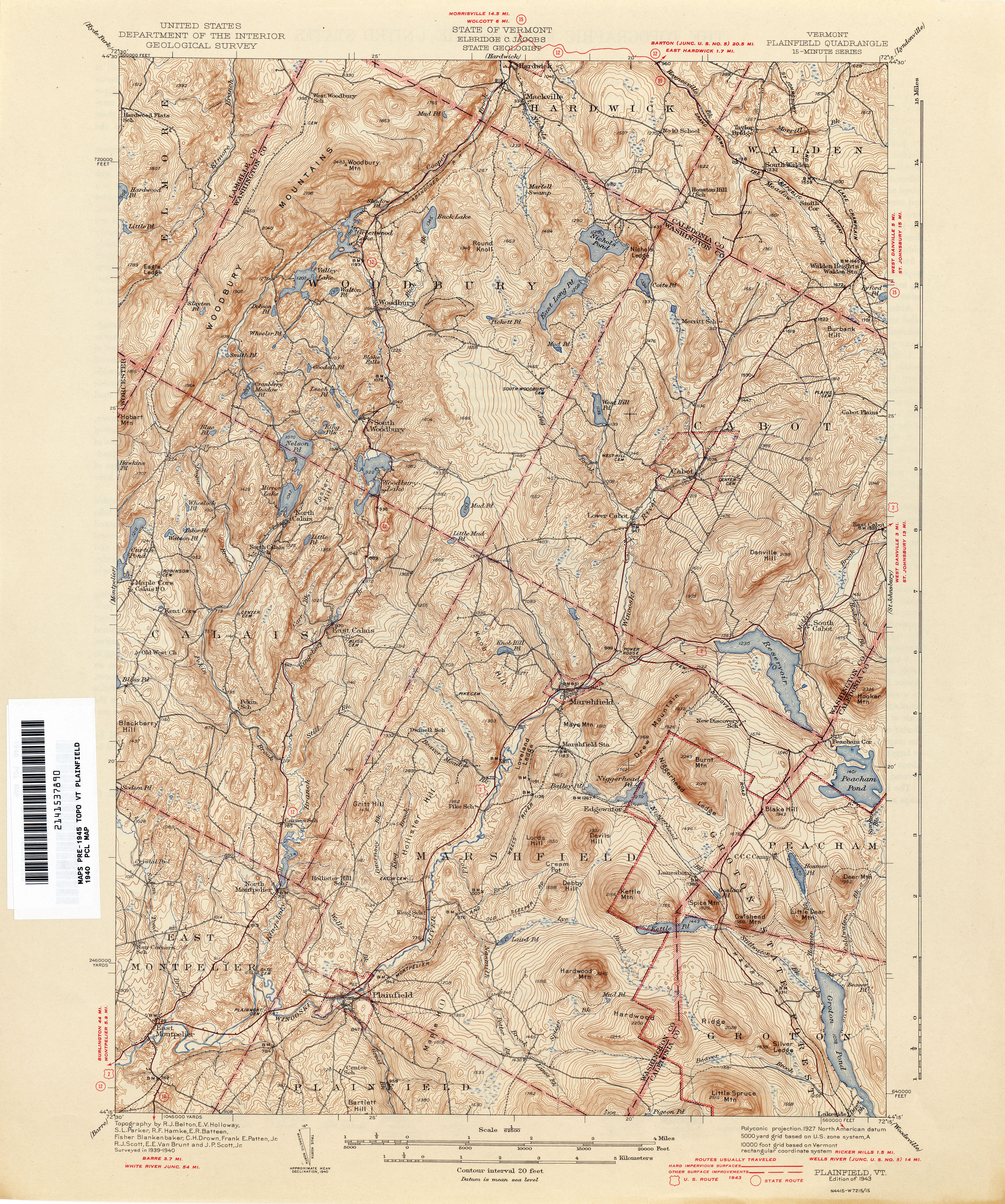 Vermont Historical Topographic Maps PerryCastañeda Map - Vermont on a us map