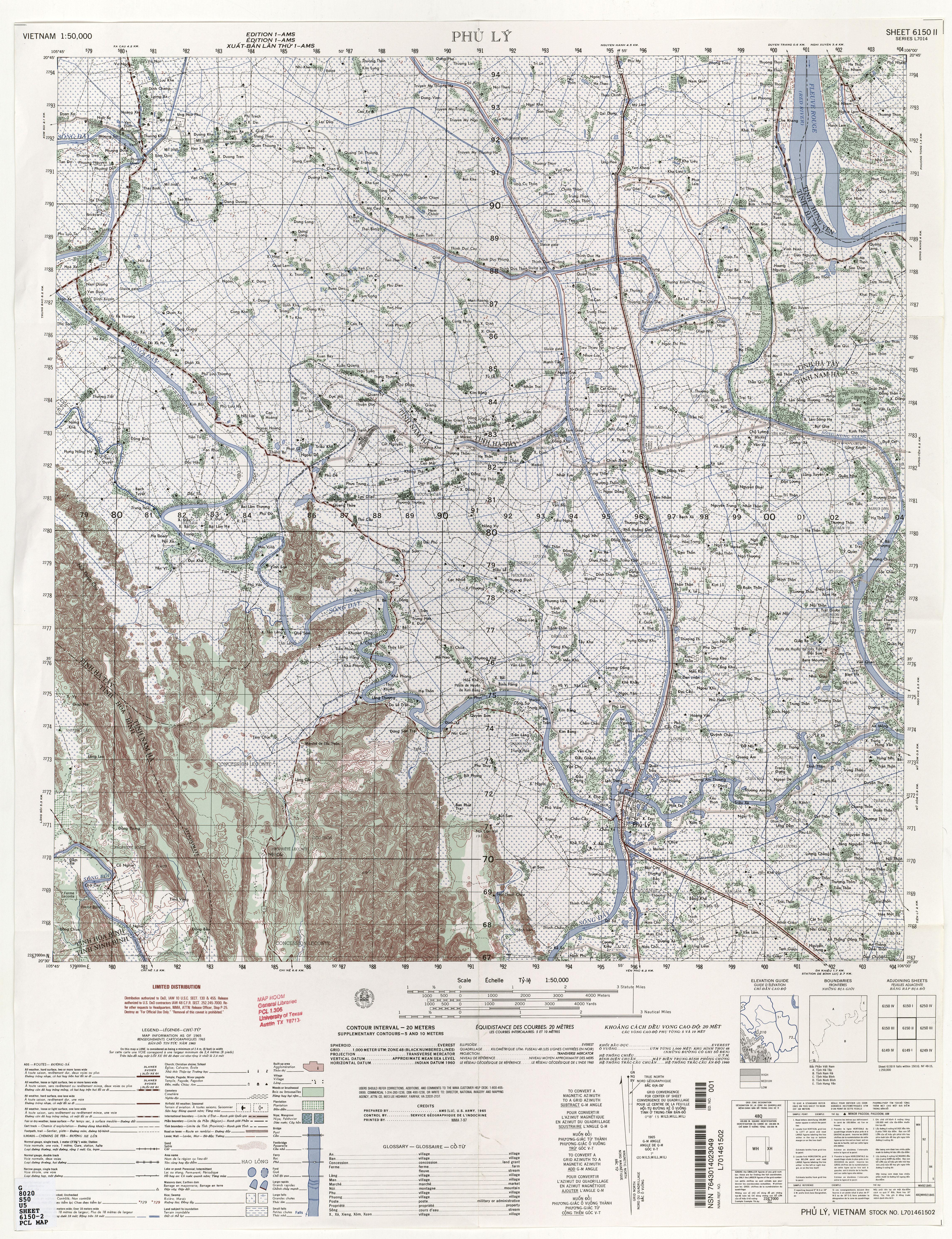 Dien Bien Phu Vietnam Map.Vietnam Topographic Maps Perry Castaneda Map Collection Ut