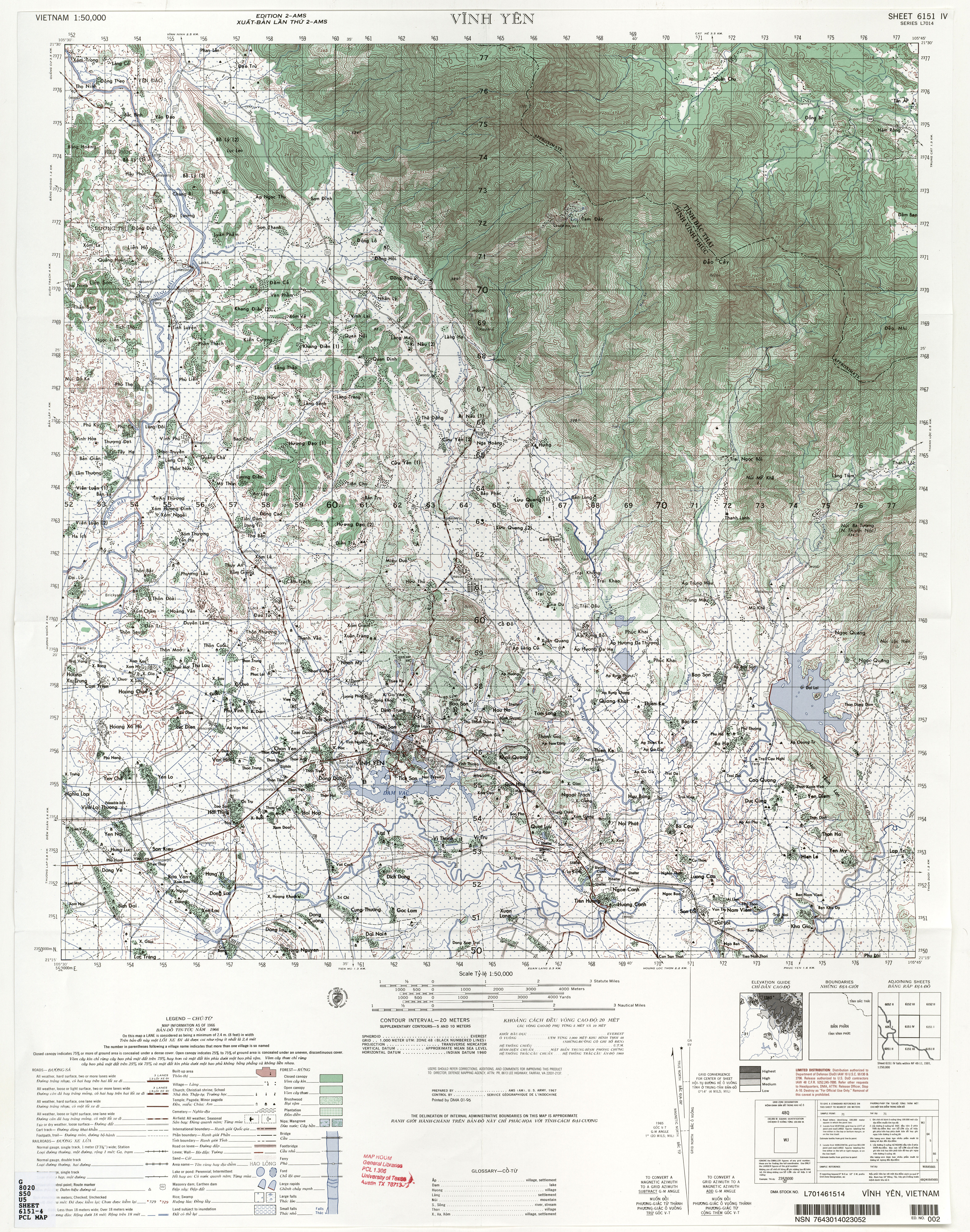 Vietnam Topographic Maps PerryCastañeda Map Collection UT - Us army map reading