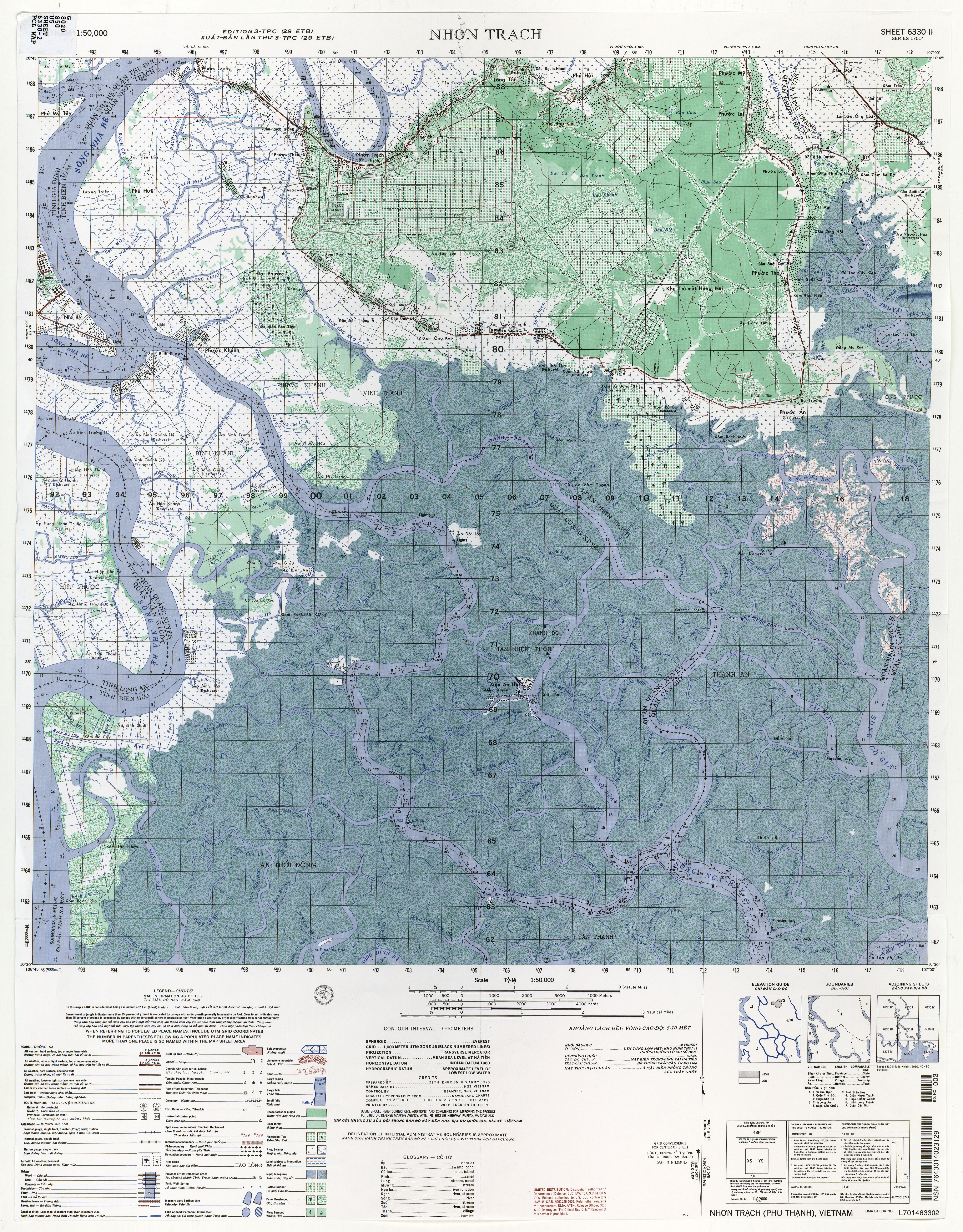 Vietnam Topographic Maps Perry Castaneda Map Collection Ut