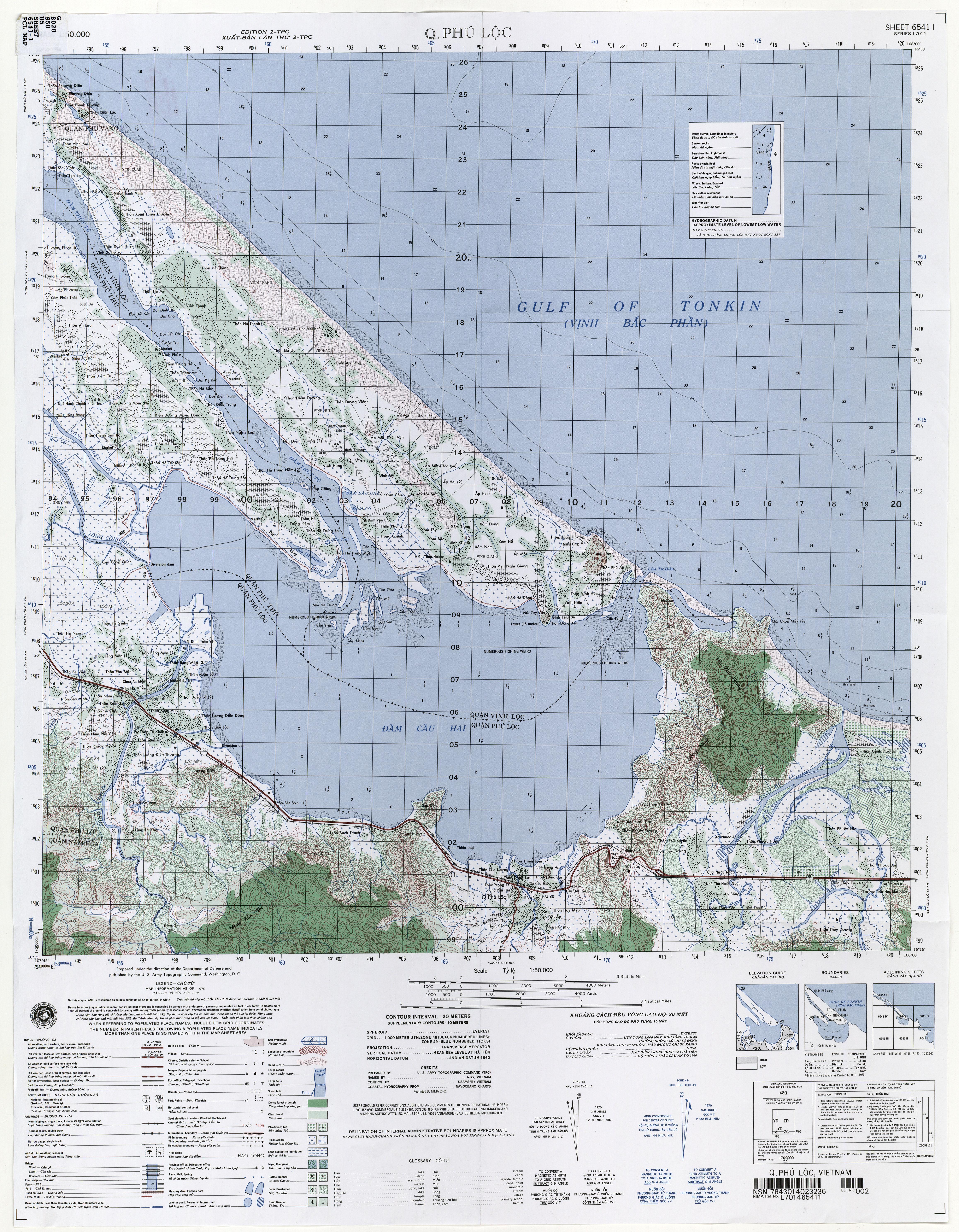Vietnam Topographic Maps PerryCasta eda Map Collection UT – Map Us Bases Vietnam 1970