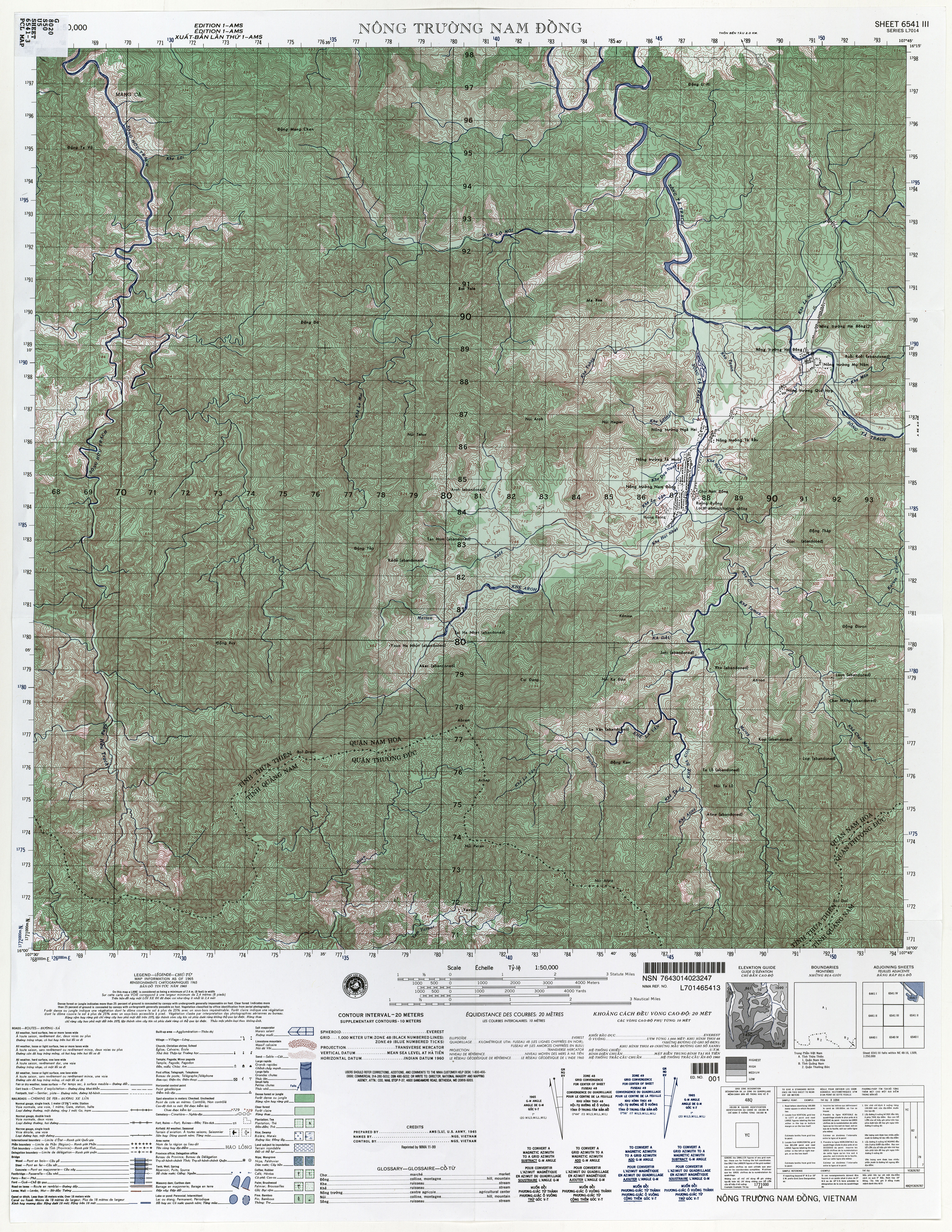 topographic sheet 6541 3 1 50 000 u s army map service 1965 11 0mb jpeg