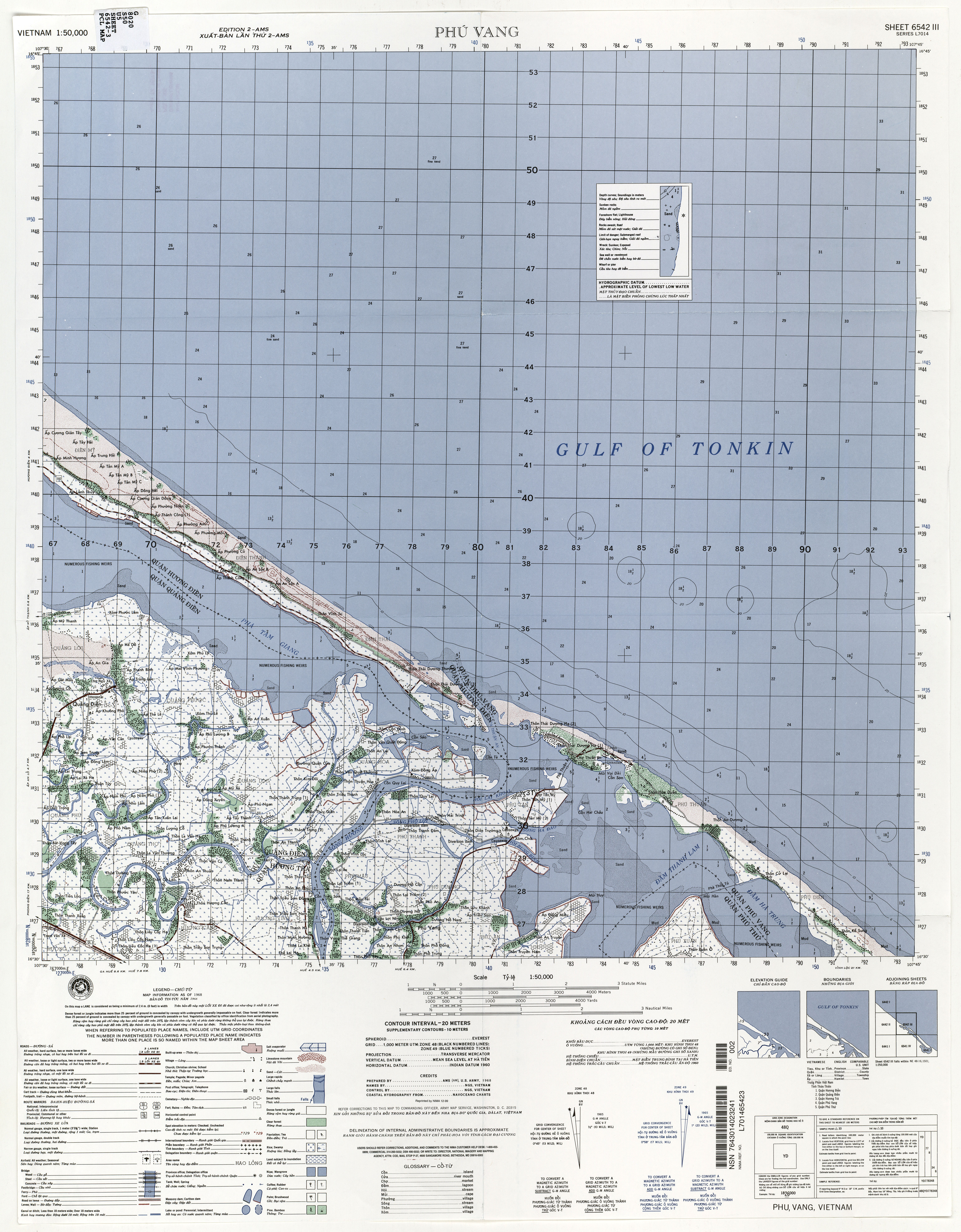 Vietnam Topographic Maps PerryCastañeda Map Collection UT - Change map of 1968 us