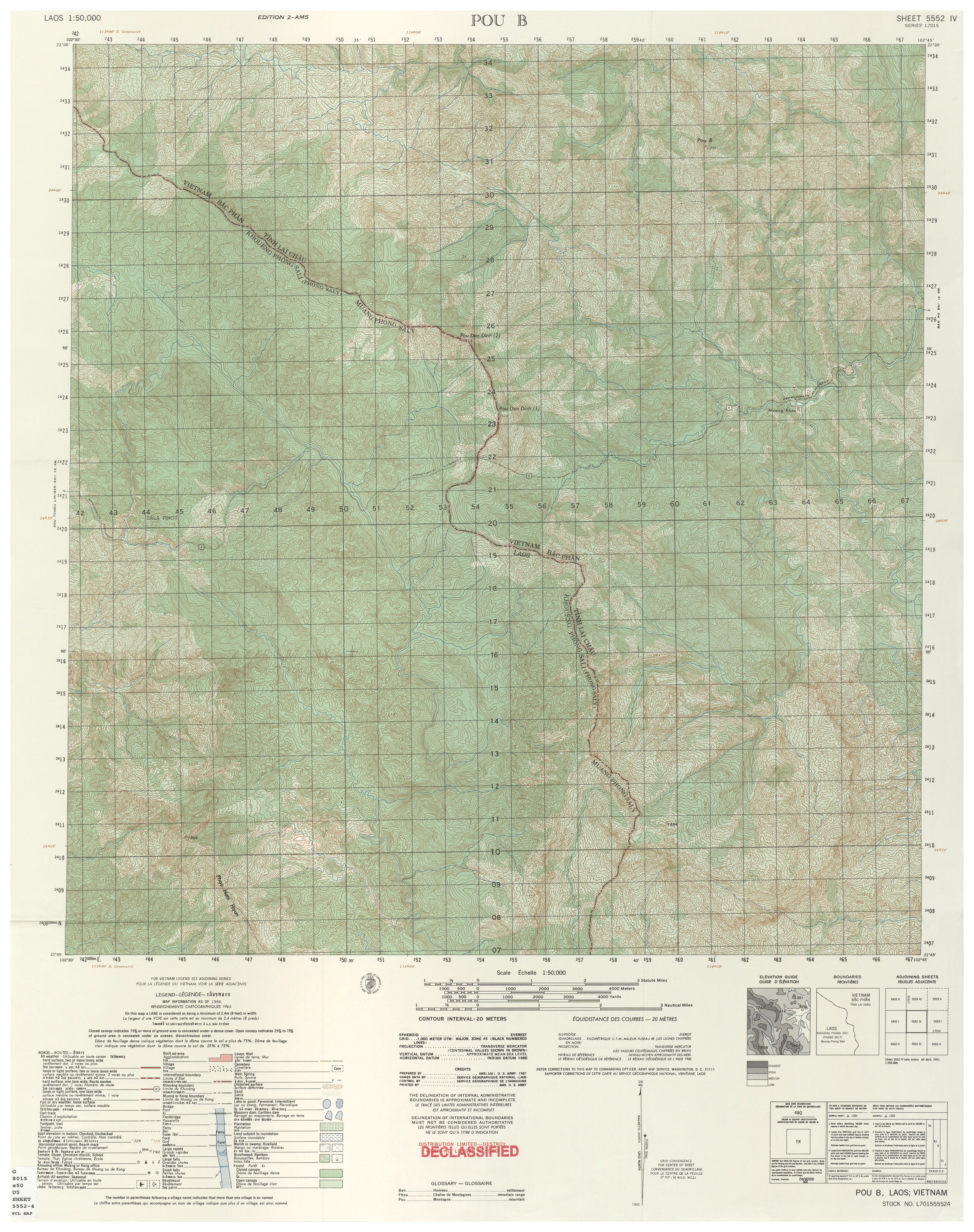 Vietnam Topographic Maps PerryCastañeda Map Collection UT - Us paper map