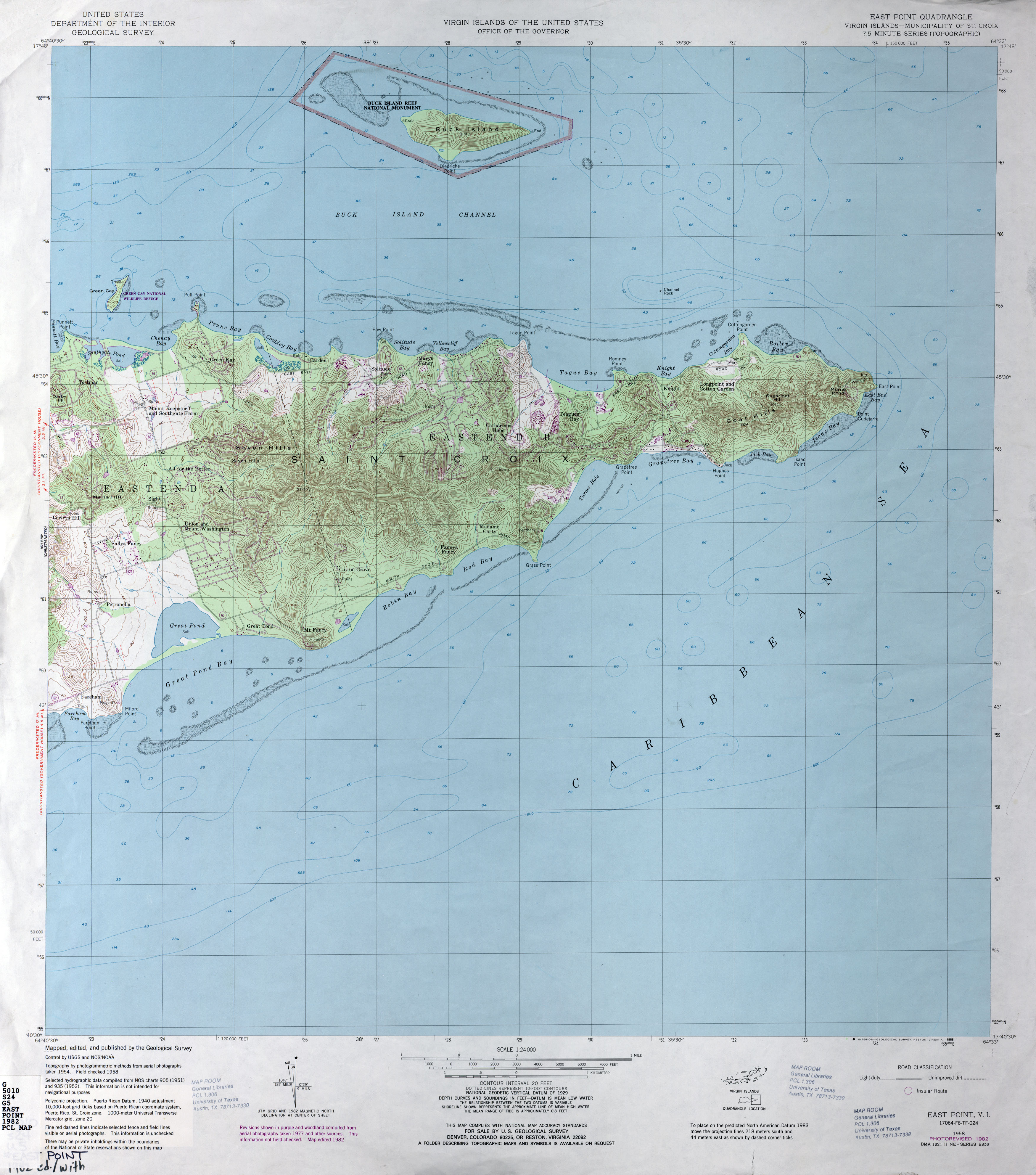 US Virgin Islands Topographic Maps PerryCastañeda Map - Us virgin islands on map