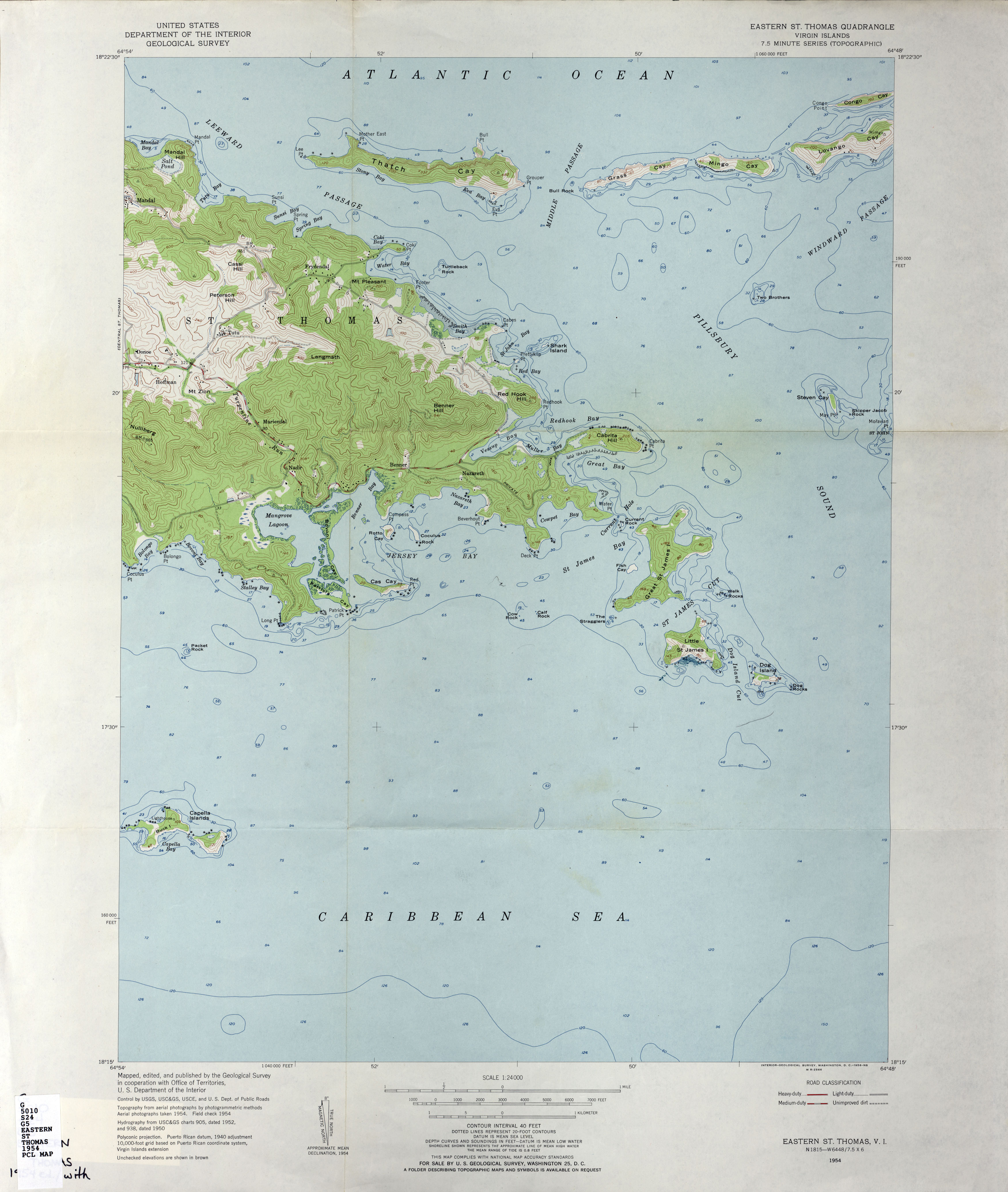 US Virgin Islands Topographic Maps PerryCasta eda Map – St Thomas on a Map