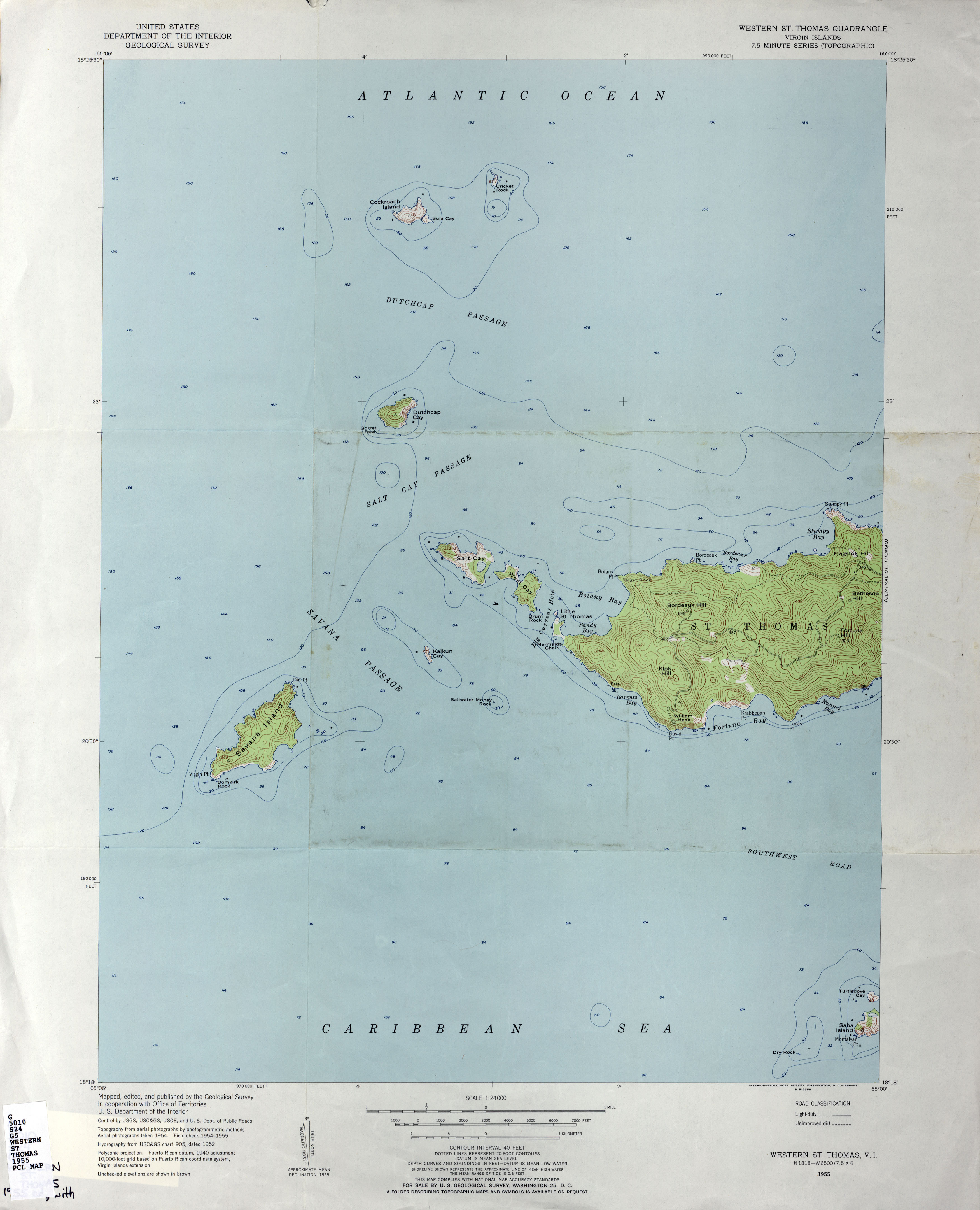US Virgin Islands Topographic Maps PerryCastañeda Map - Us paper map thomas guide