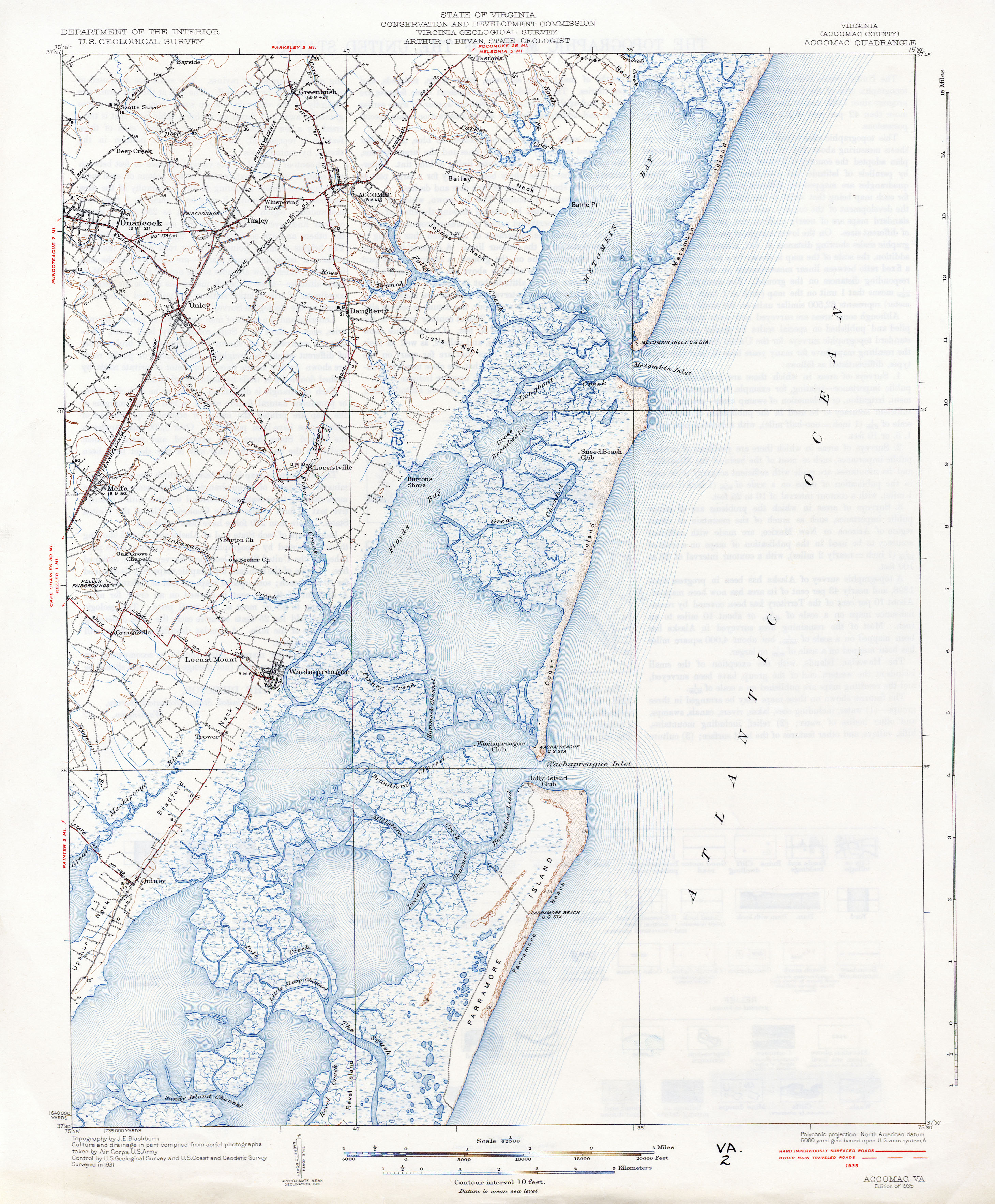 Virginia Historical Topographic Maps  PerryCastaeda Map