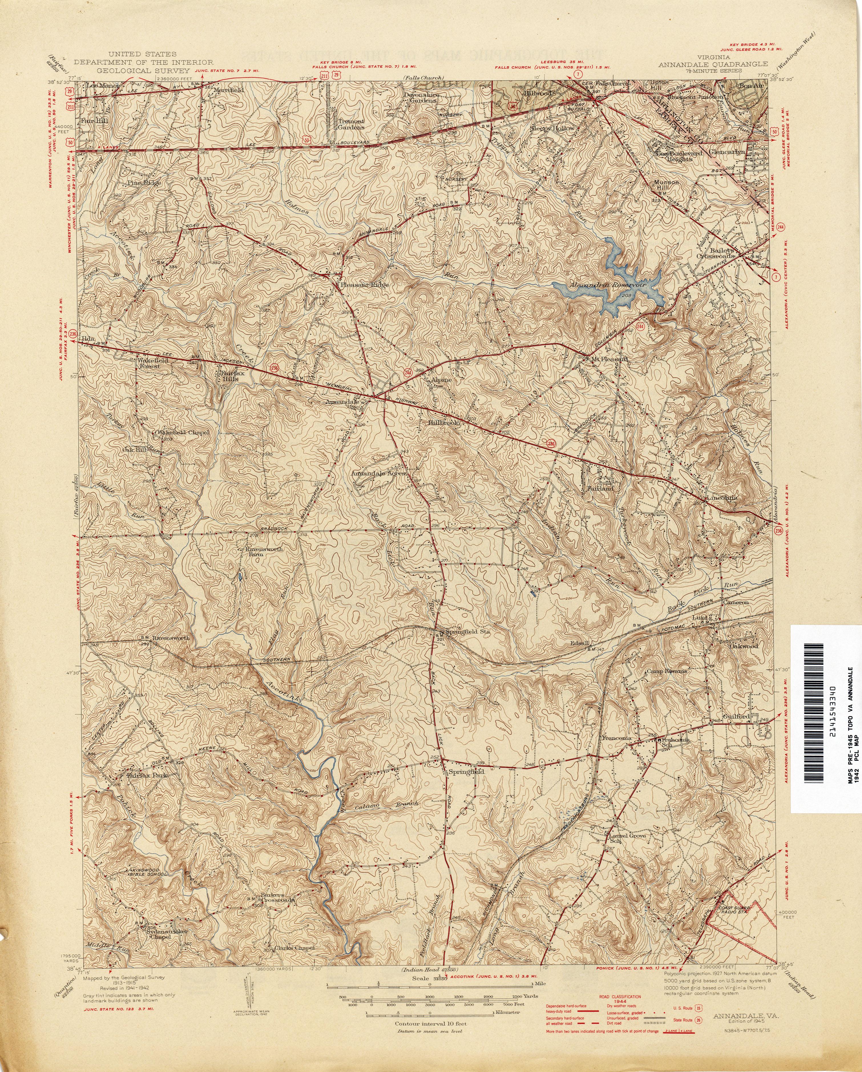 Virginia Historical Topographic Maps  PerryCastaeda Map