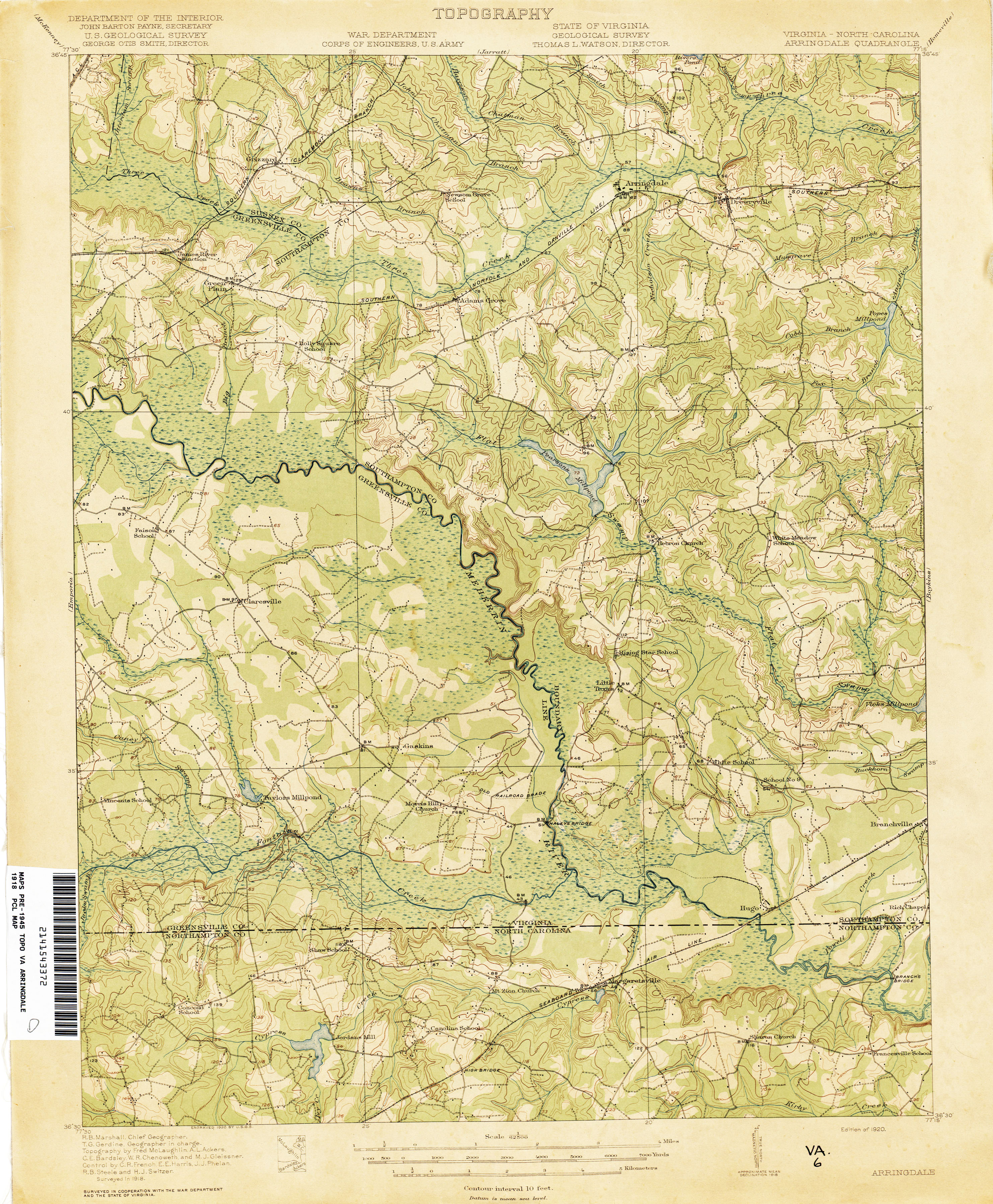 Virginia Historical Topographic Maps - Perry-Castañeda Map ...