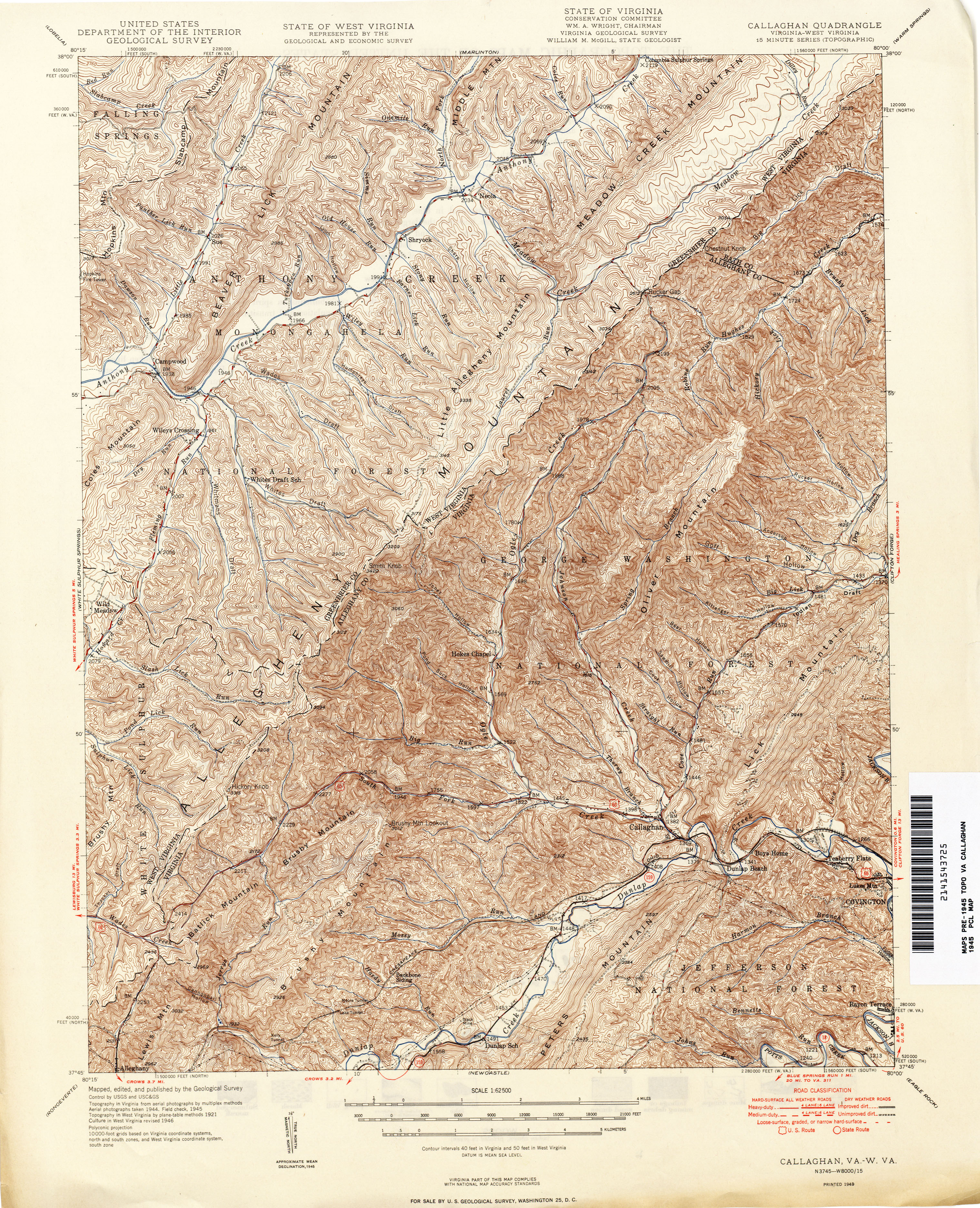 West Virginia Historical Topographic Maps PerryCastañeda Map - West virginia road map