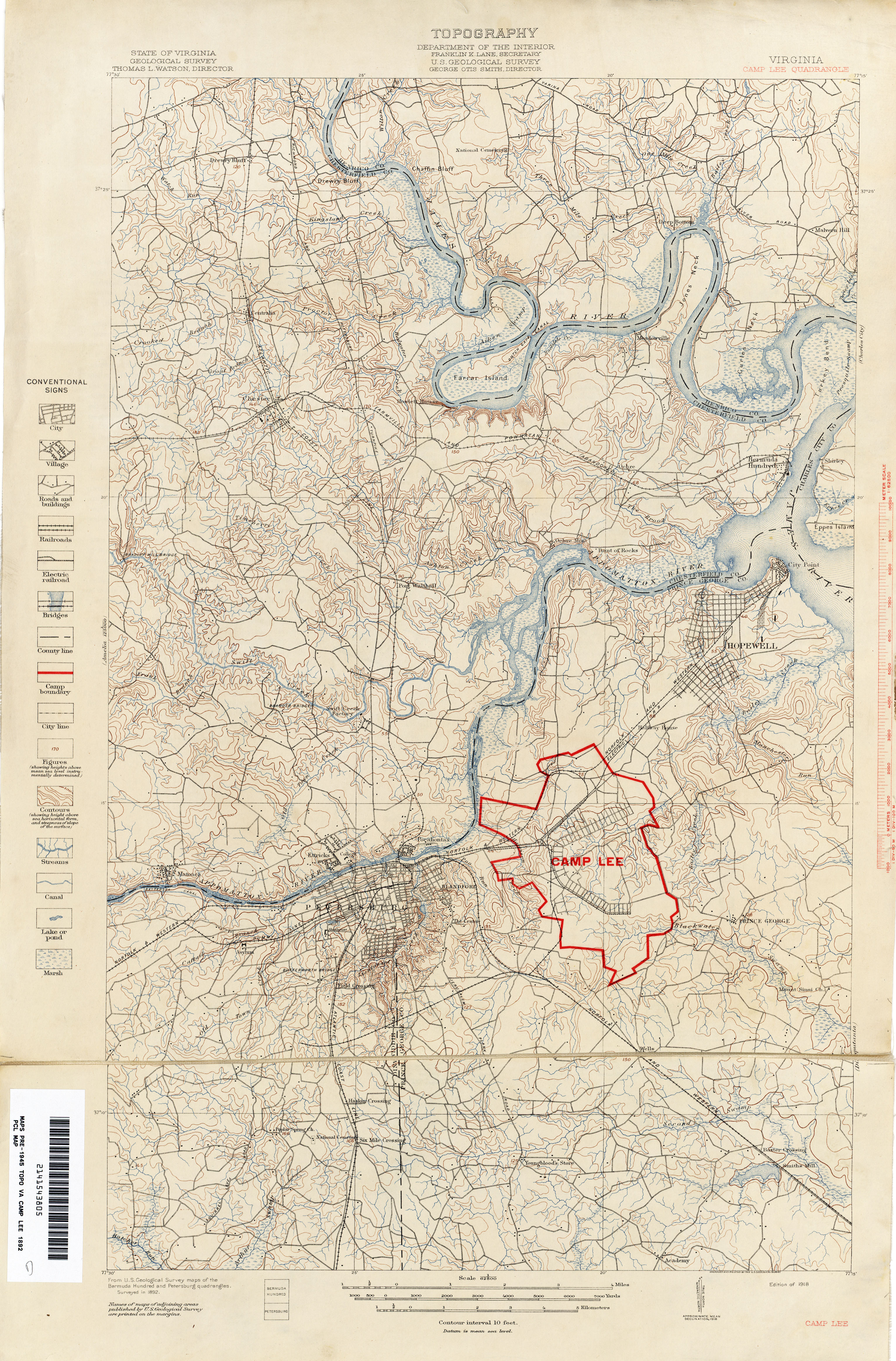 Virginia Historical Topographic Maps PerryCastañeda Map - Old map shop