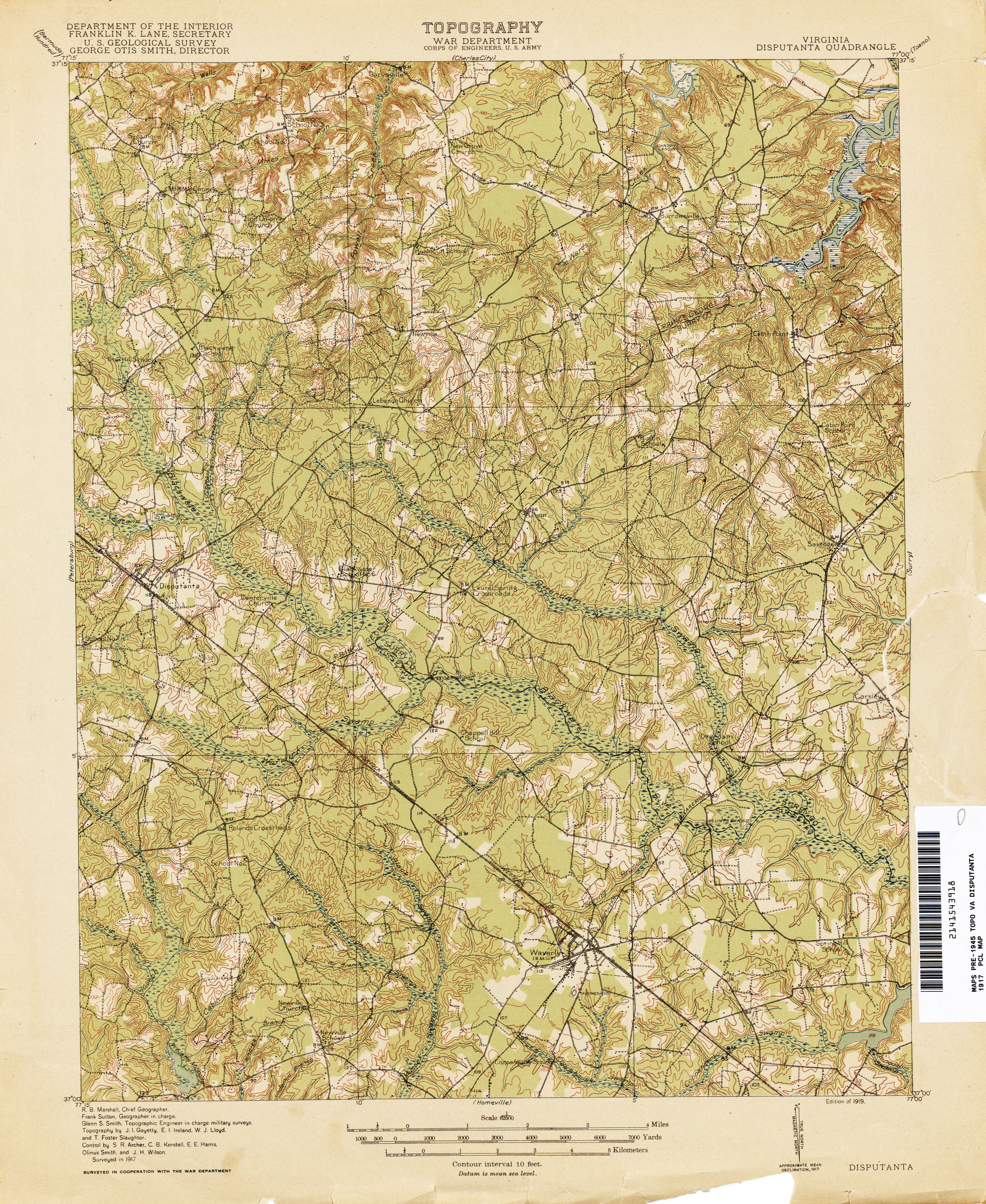 Virginia Historical Topographic Maps Perry Castaneda Map