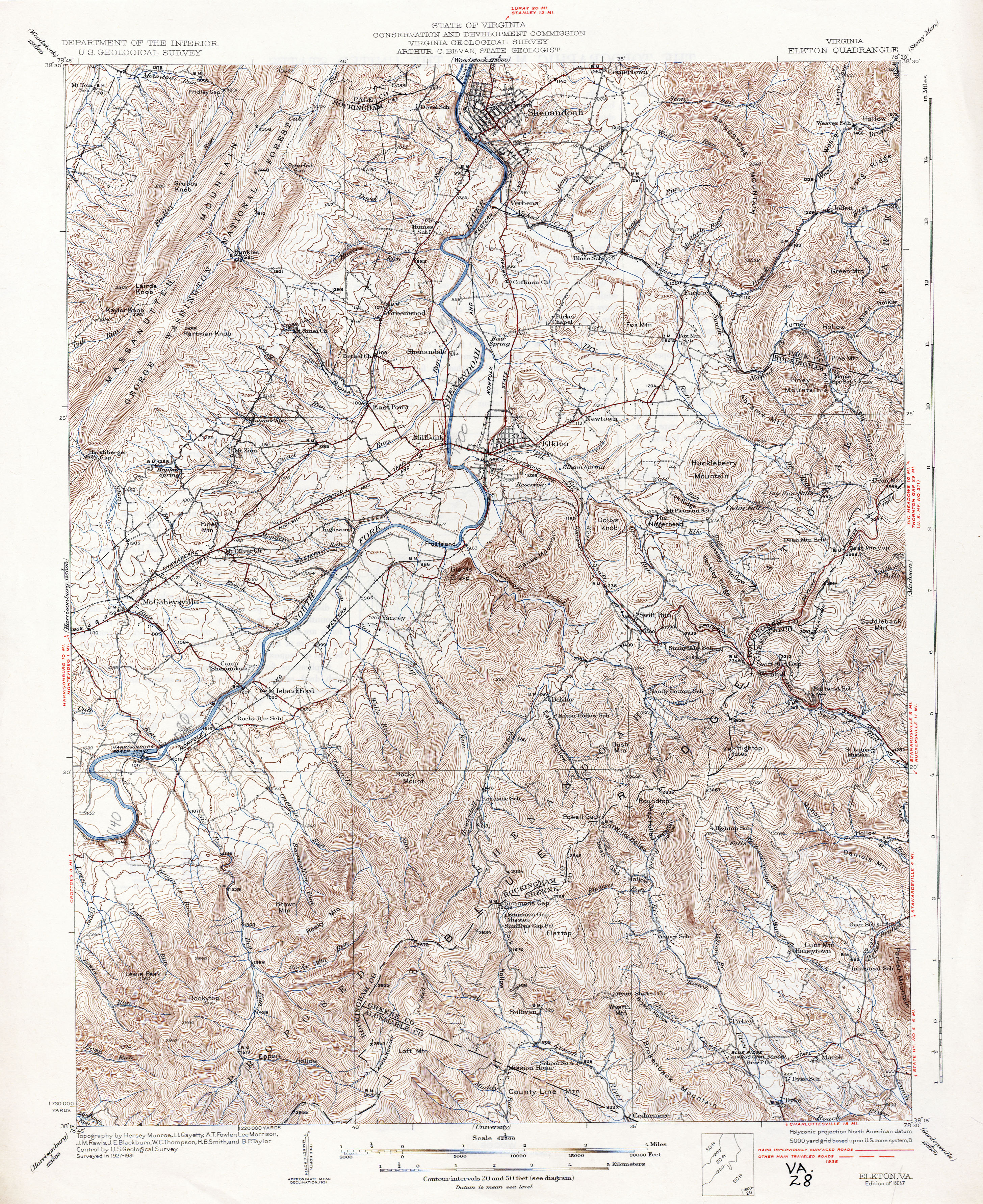 Virginia Historical Topographic Maps PerryCastañeda Map - Virginia on us map