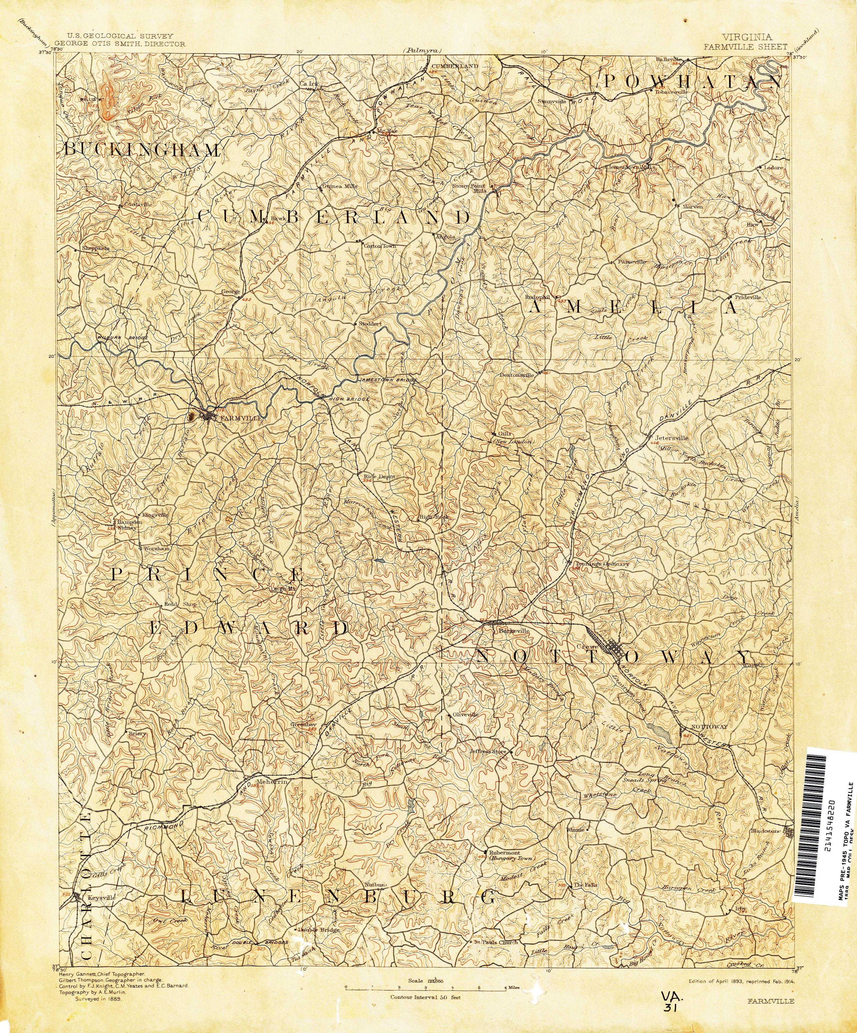 Virginia Historical Topographic Maps PerryCastañeda Map - Maps of va