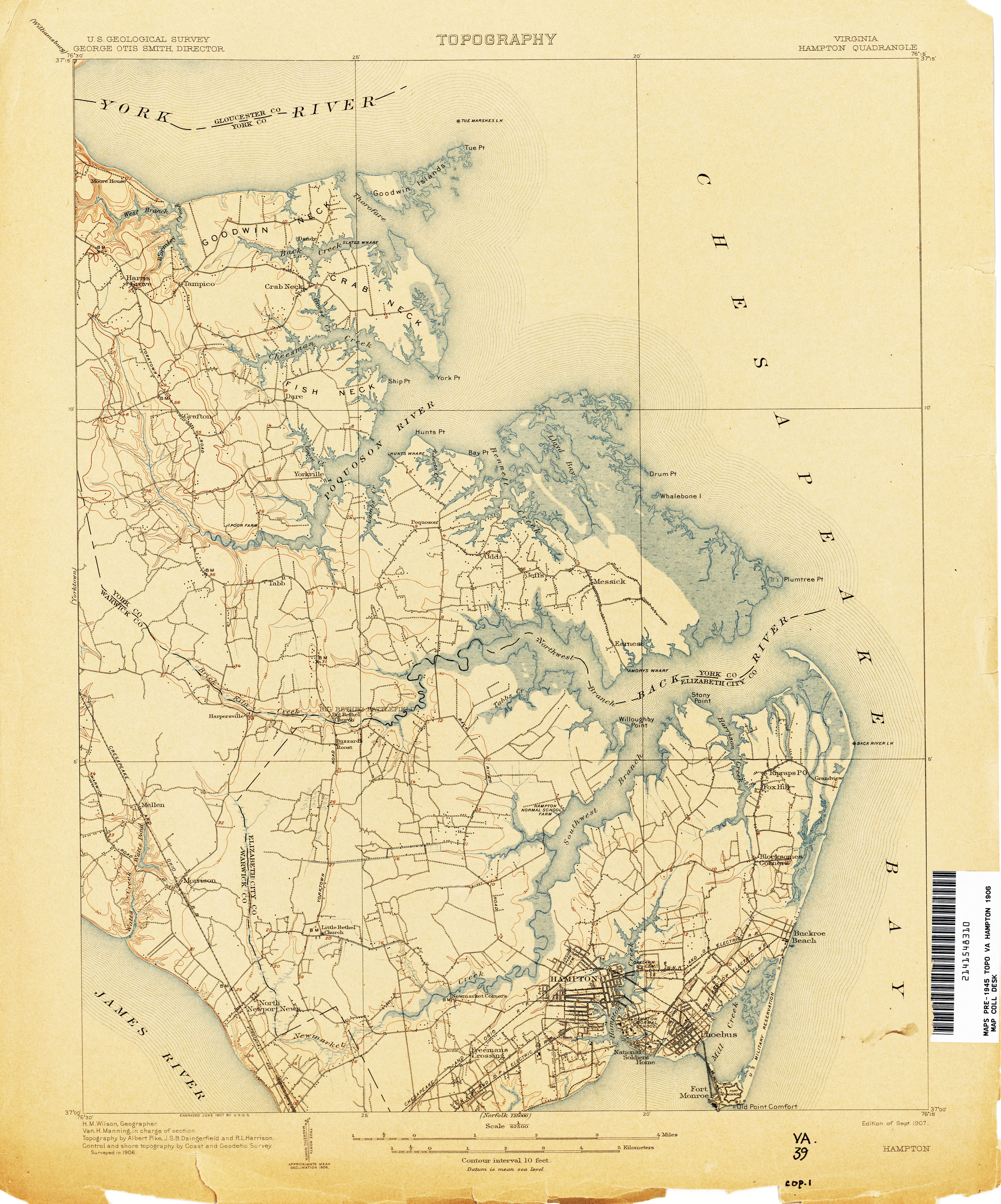 Gloucester Virginia Map.Virginia Historical Topographic Maps Perry Castaneda Map