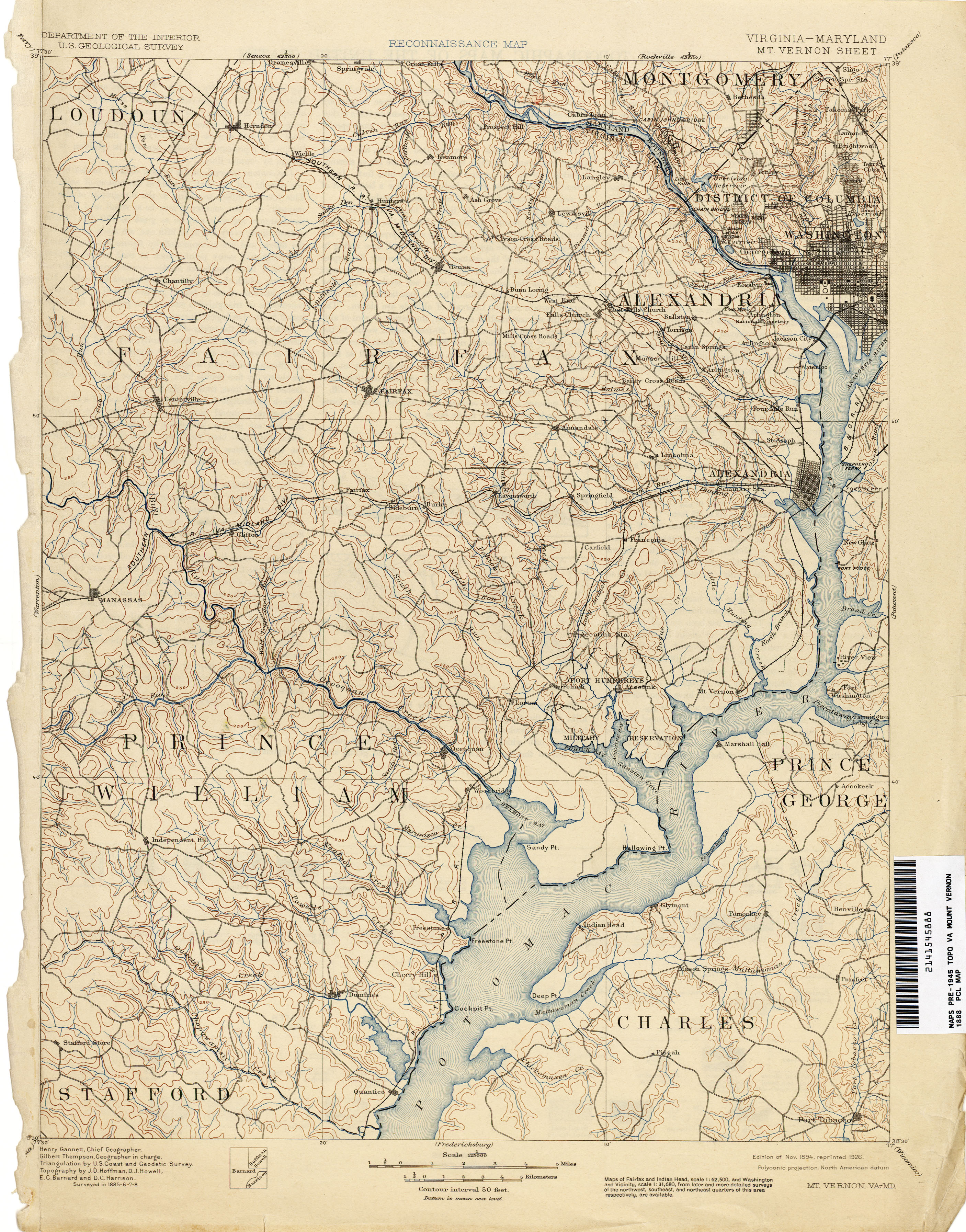 Maryland Historical Topographic Maps PerryCastañeda Map - Alexandria usa map