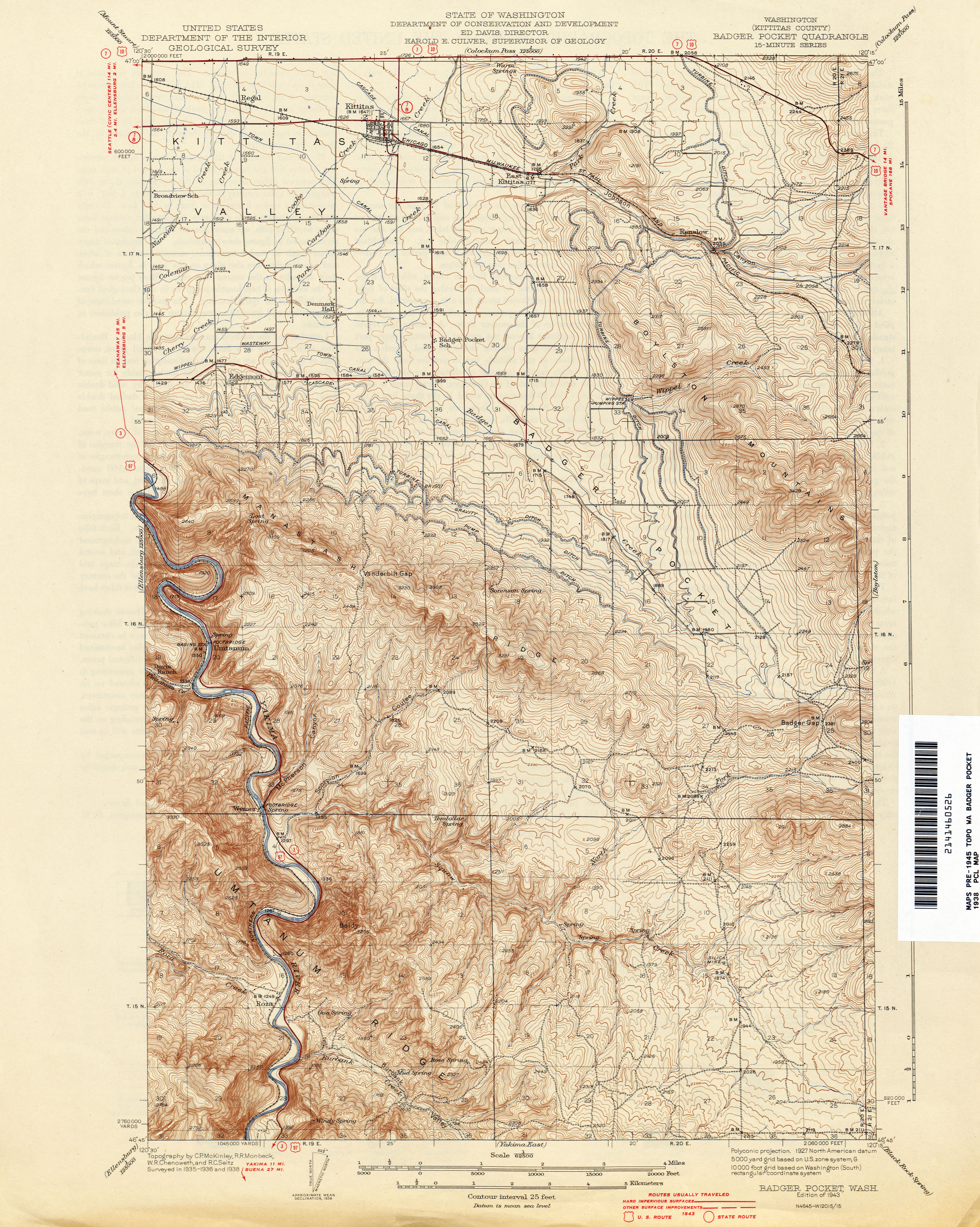 Washington Historical Topographic Maps Perry Castaneda Map - Us-geodetic-maps