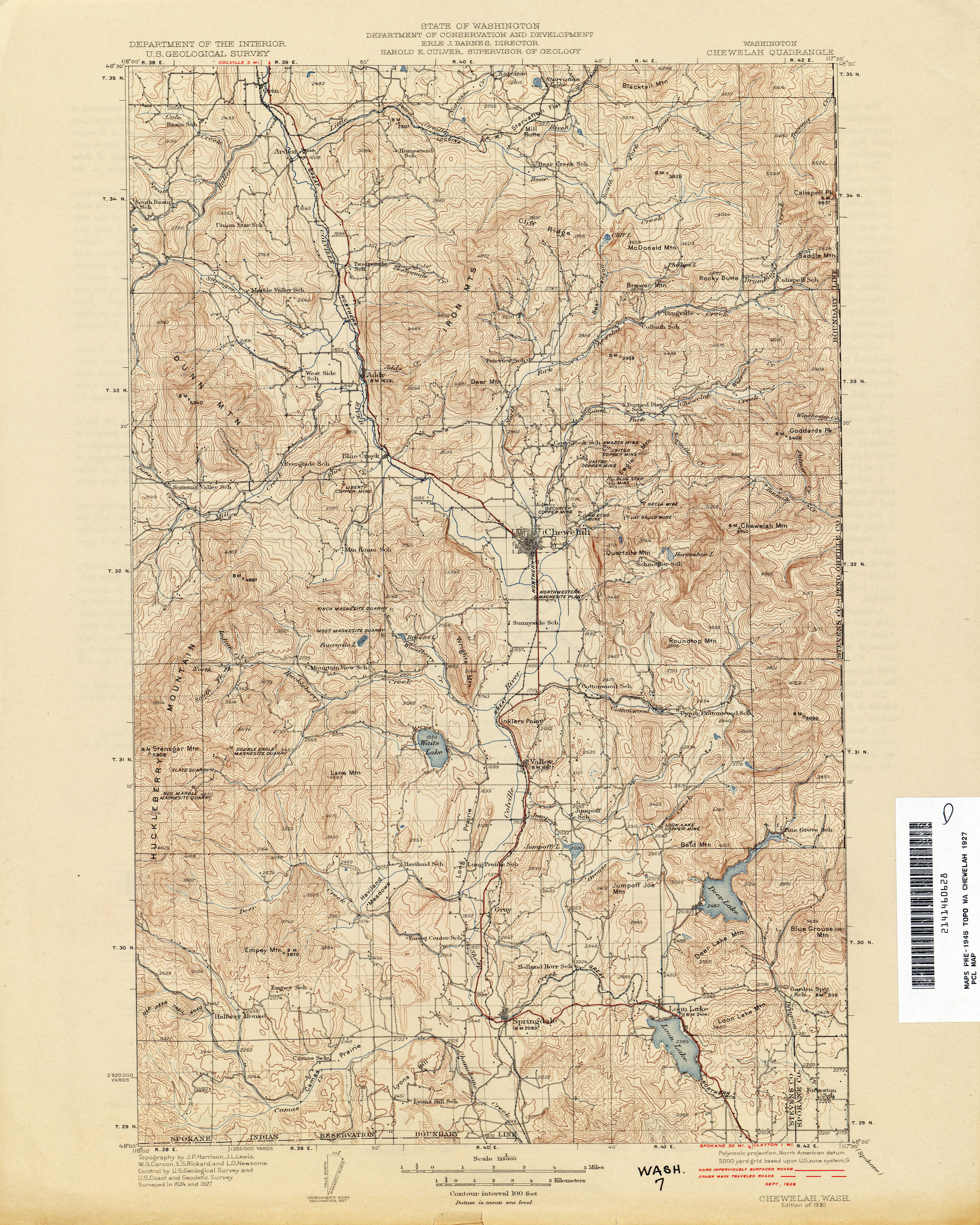 Washington Historical Topographic Maps PerryCastañeda Map - Usgs topographic maps online