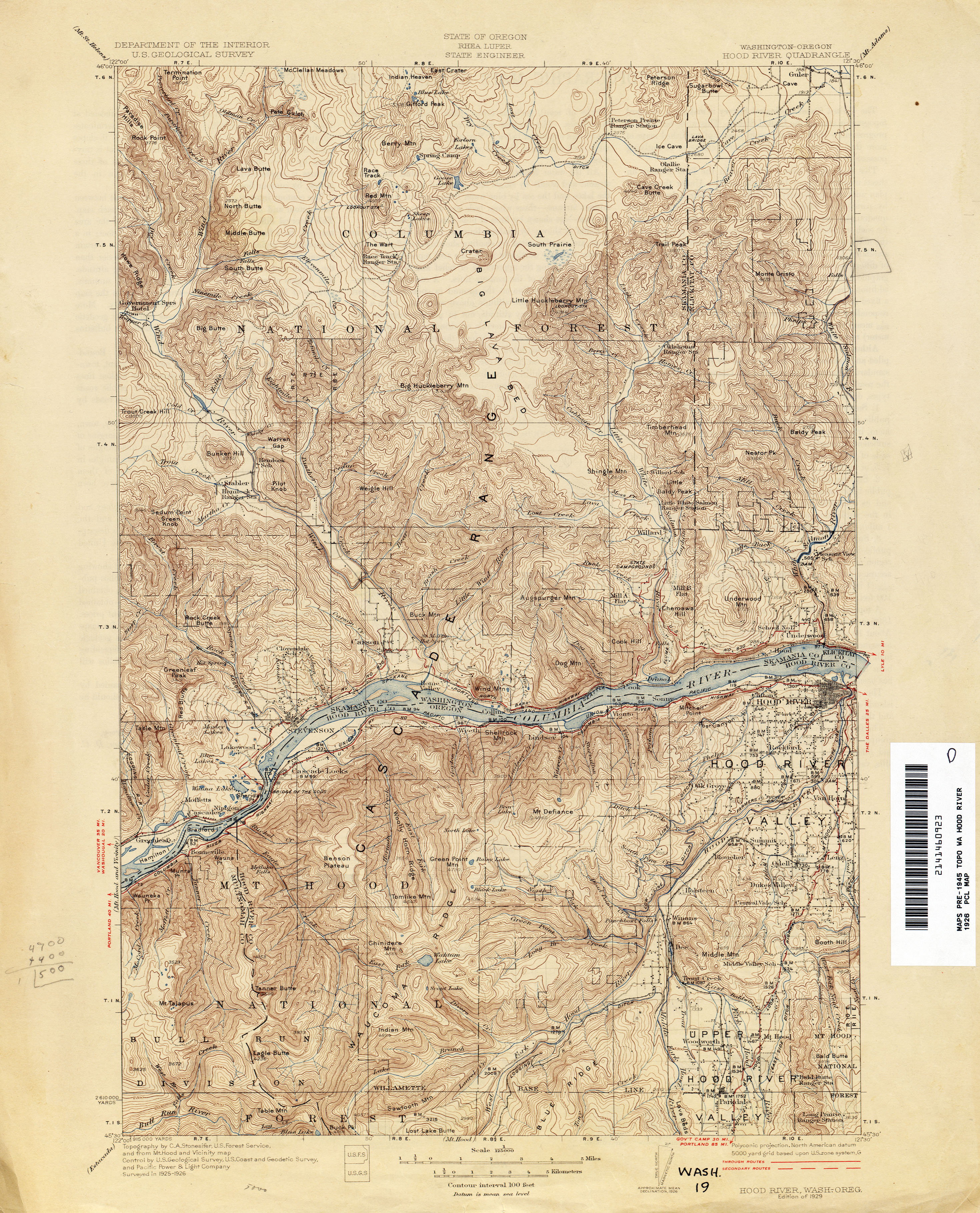 Mt St Helens Washington Map.Washington Historical Topographic Maps Perry Castaneda Map