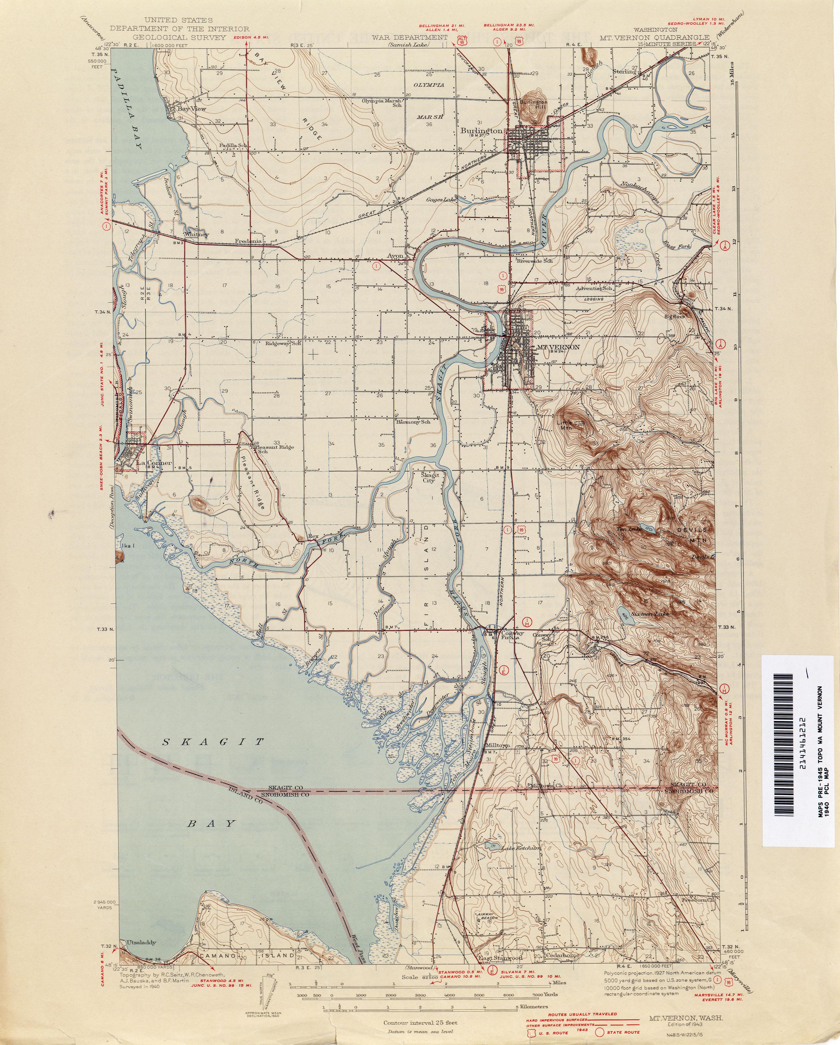 Washington Historical Topographic Maps PerryCastaeda Map