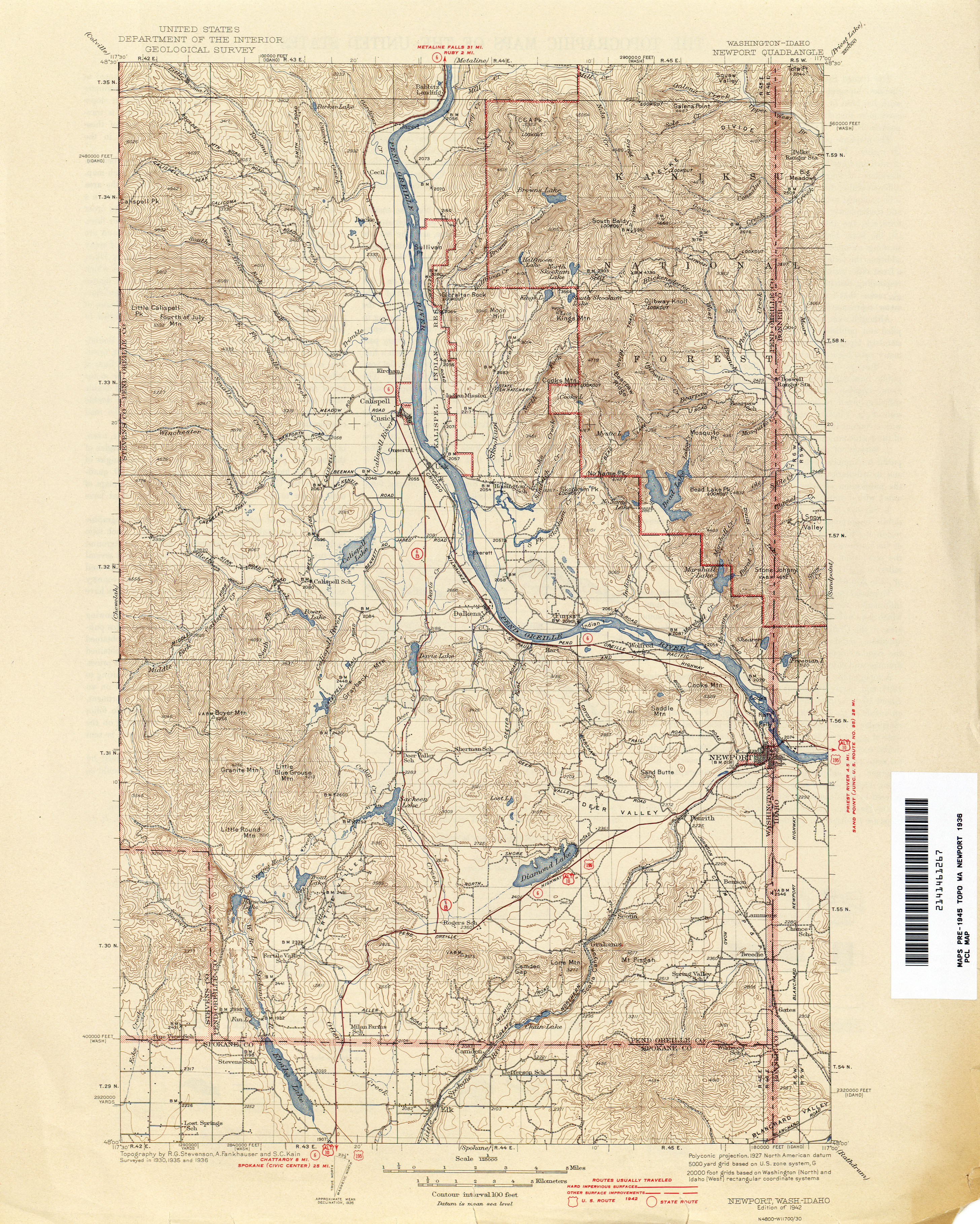 Washington Historical Topographic Maps PerryCastañeda Map - Topographic map of eastern us