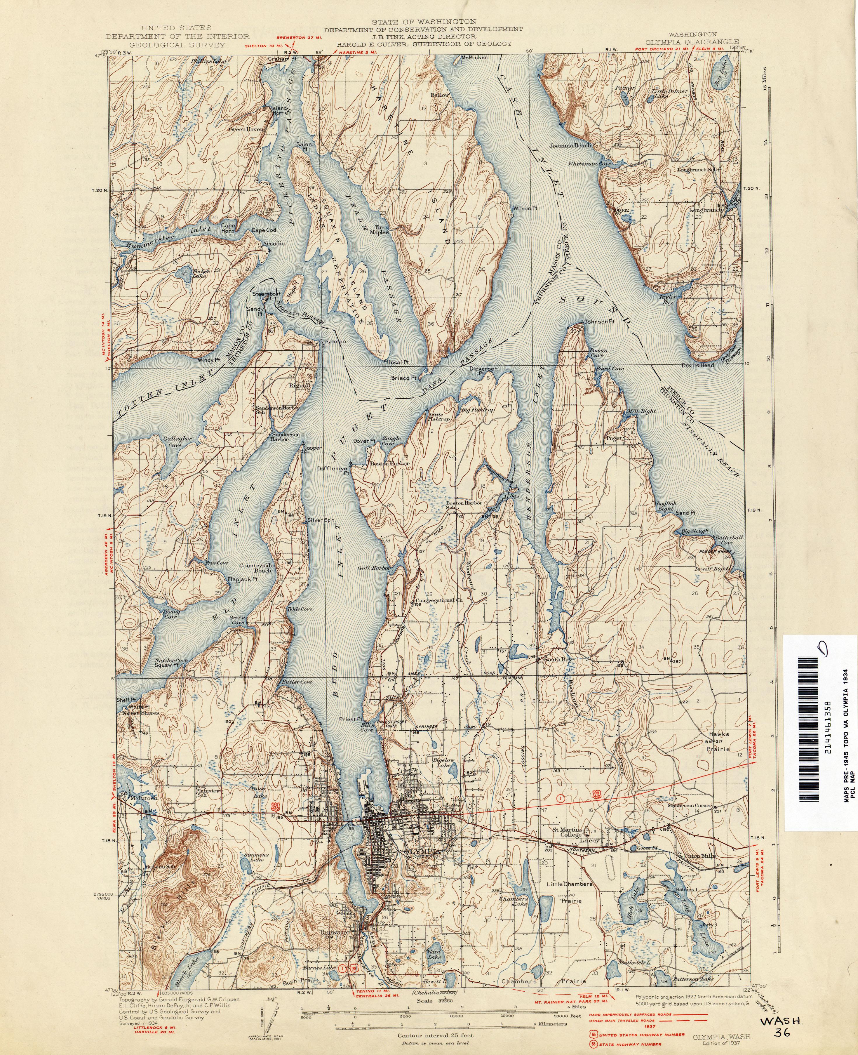 Washington Historical Topographic Maps - Perry-Castañeda Map ...