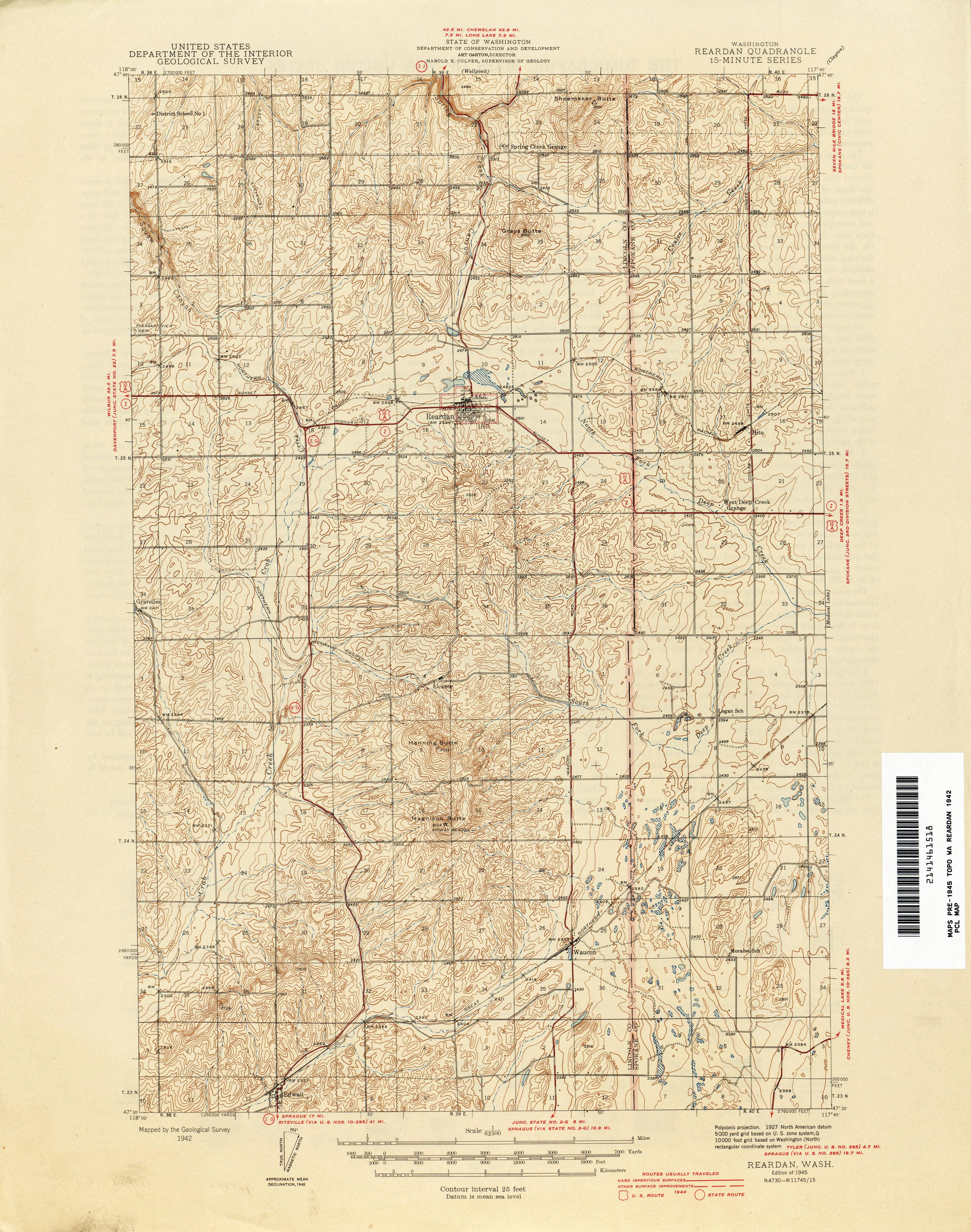 Washington Historical Topographic Maps PerryCastañeda Map - Washington map