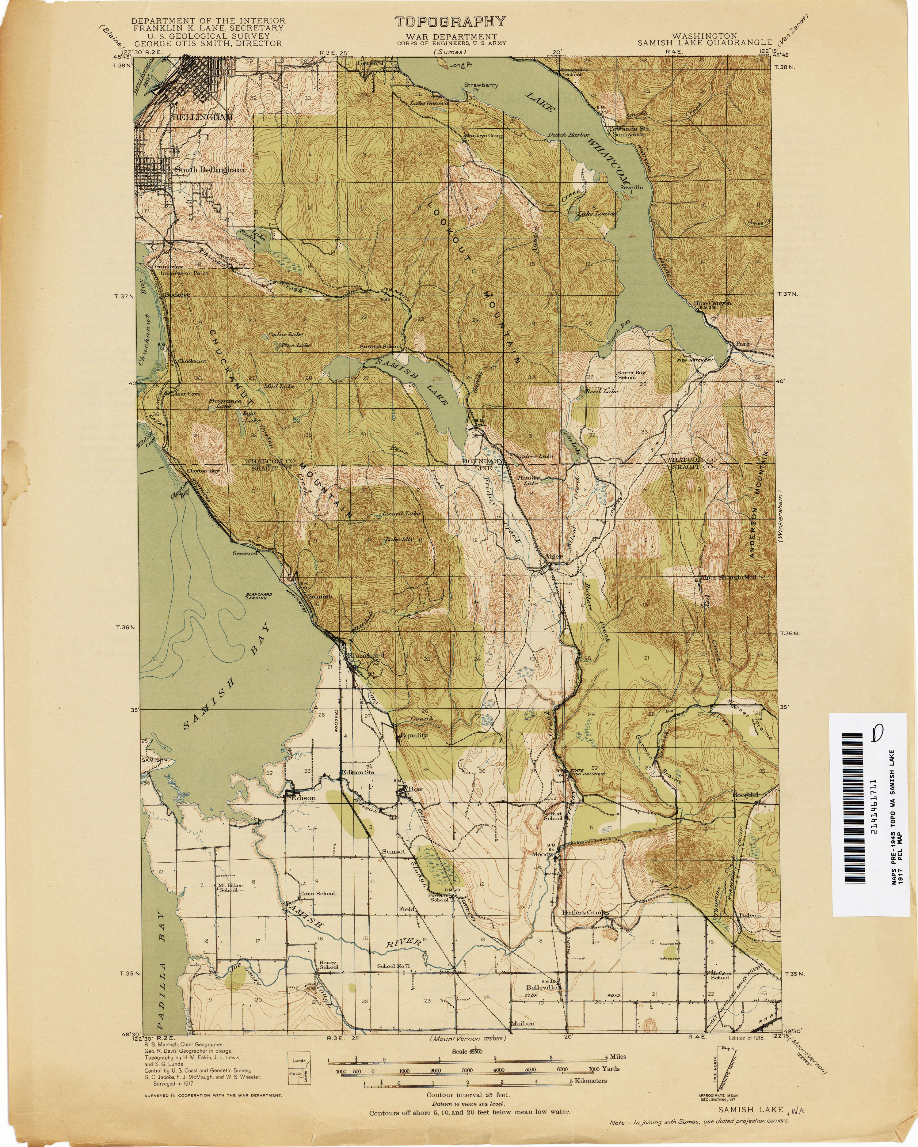 Washington Historical Topographic Maps PerryCastañeda Map - Washington political map