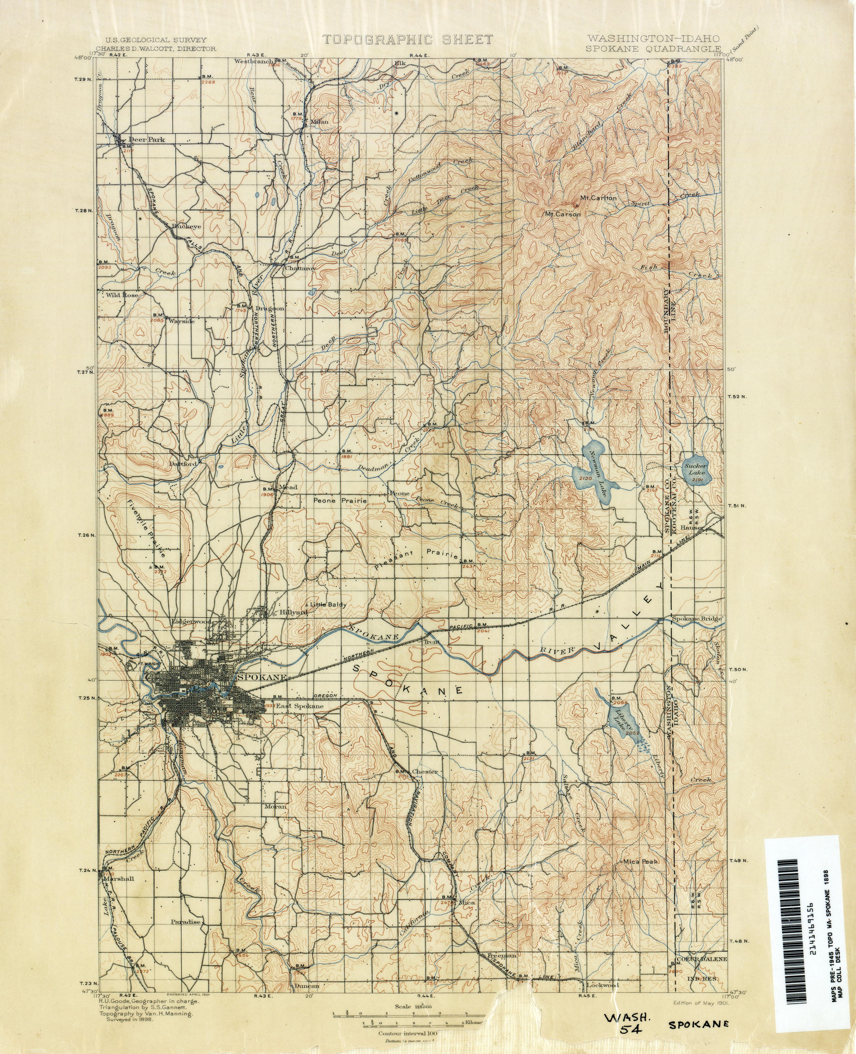 Washington Historical Topographic Maps PerryCastaeda Map
