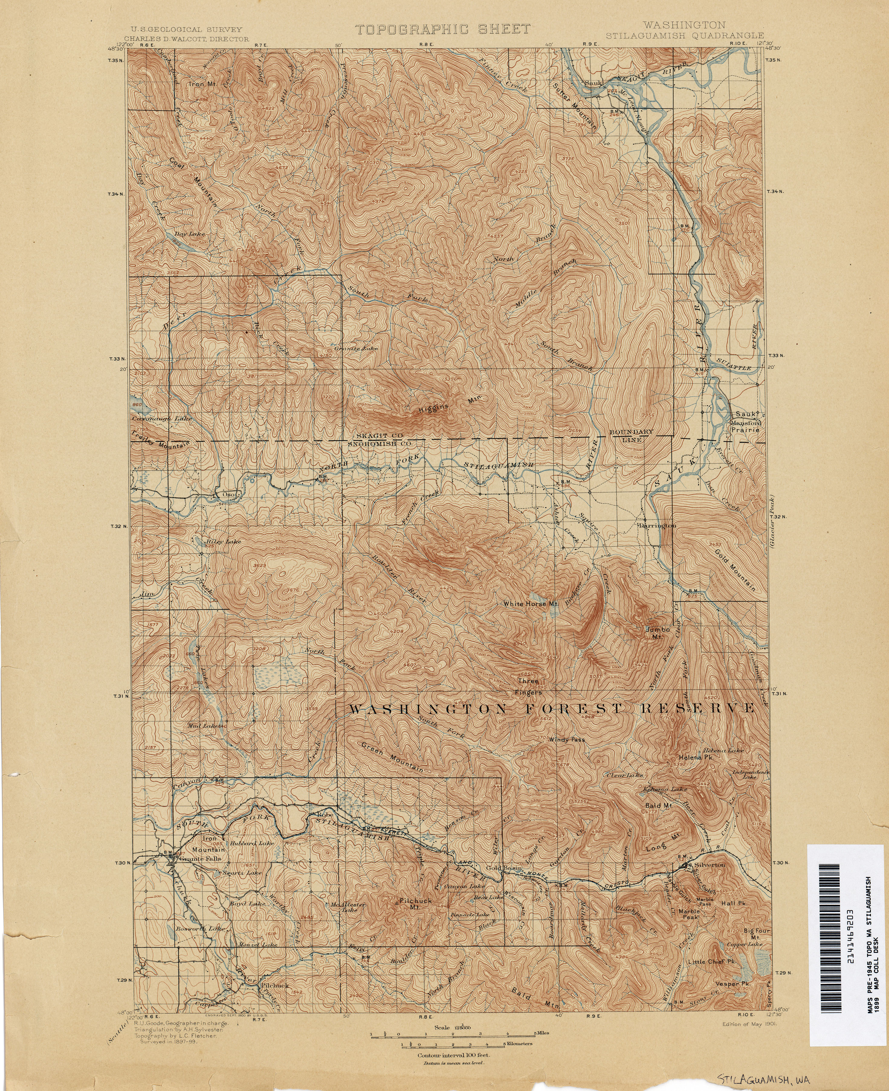 Washington Historical Topographic Maps - Perry-Castañeda Map