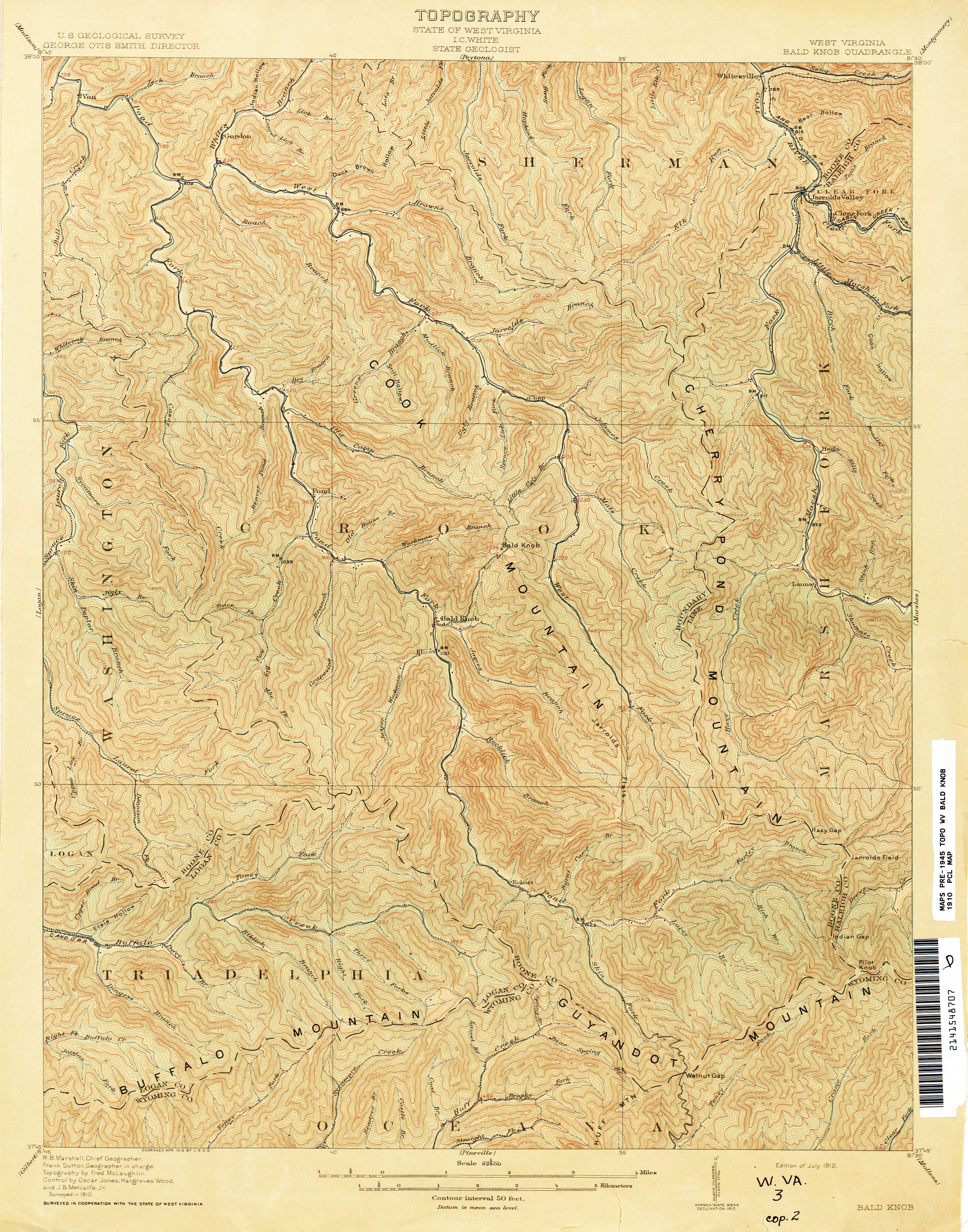West Virginia Historical Topographic Maps PerryCastañeda Map - Wv maps