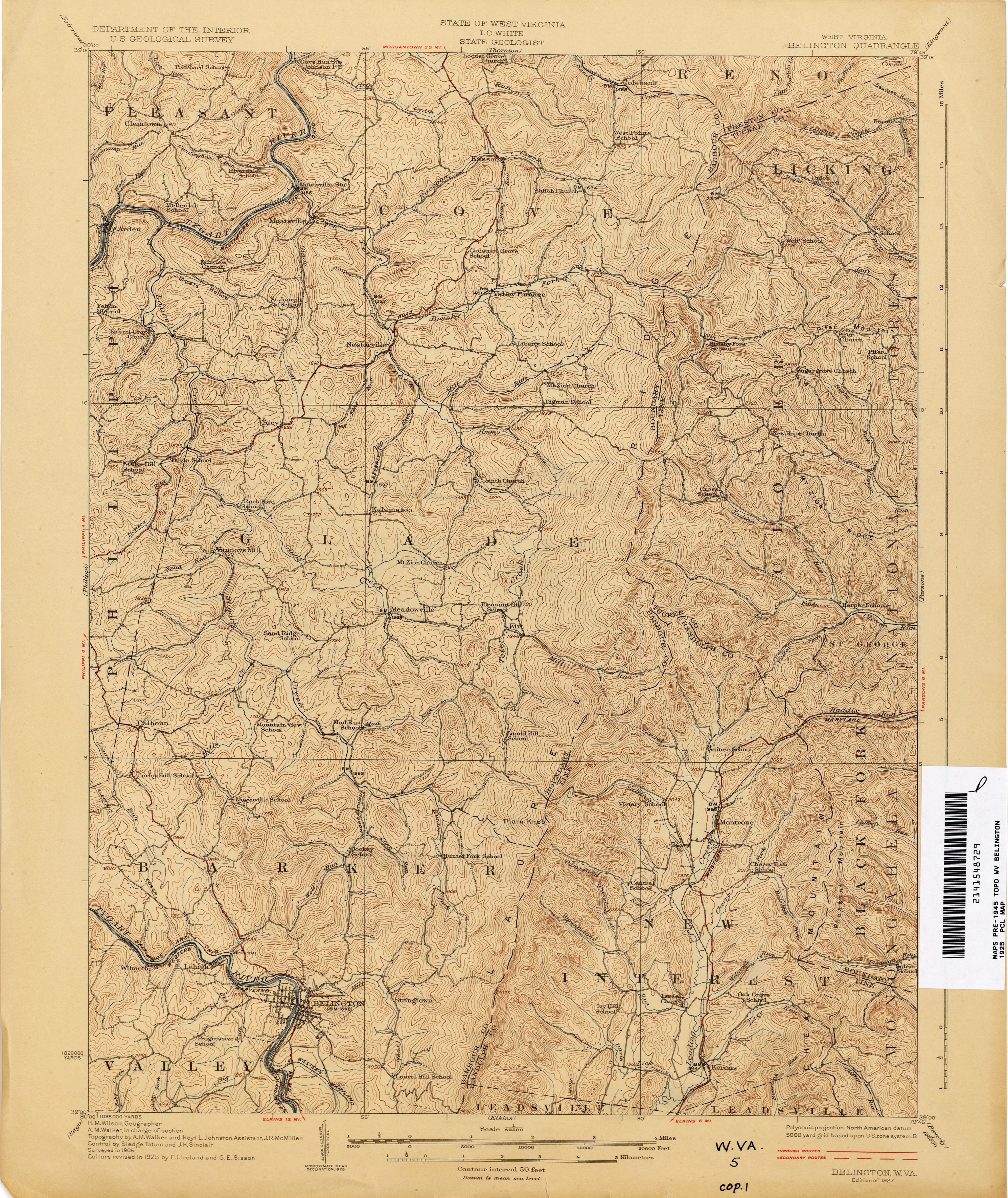 West Virginia Historical Topographic Maps