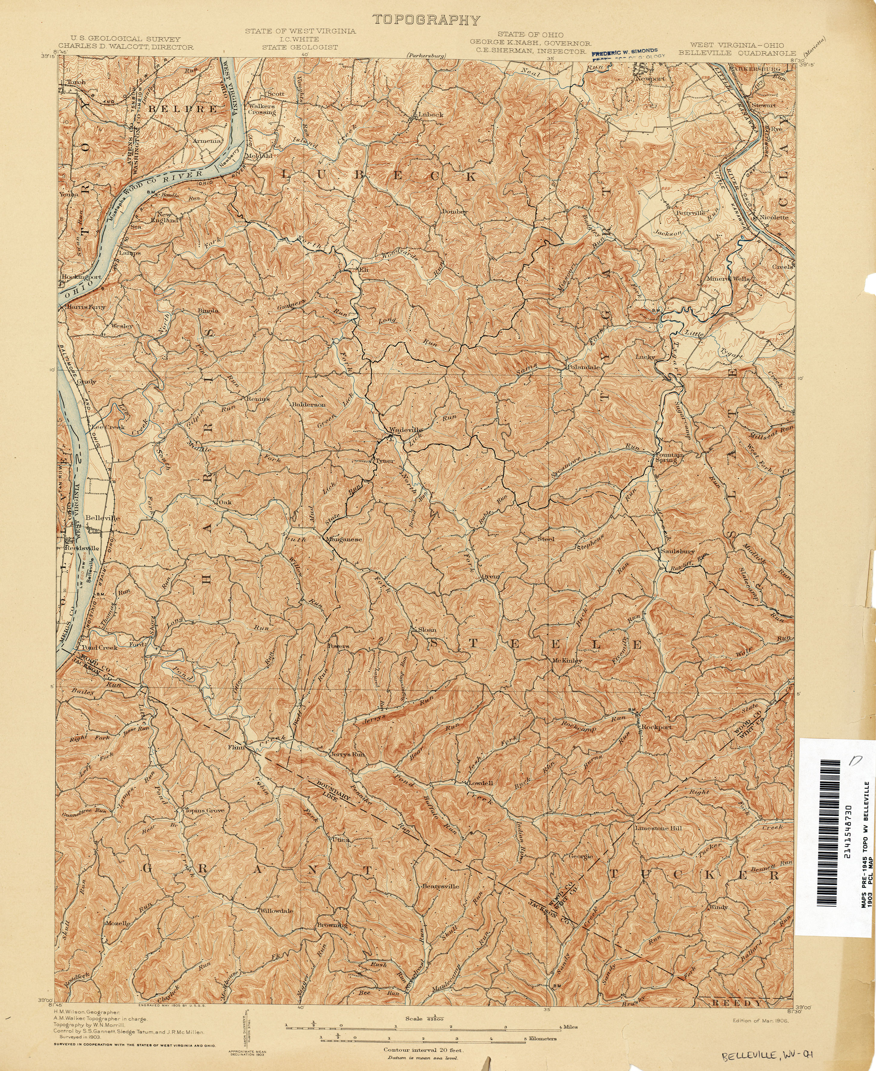 West Virginia Historical Topographic Maps PerryCastañeda Map - Map of west virginia and ohio