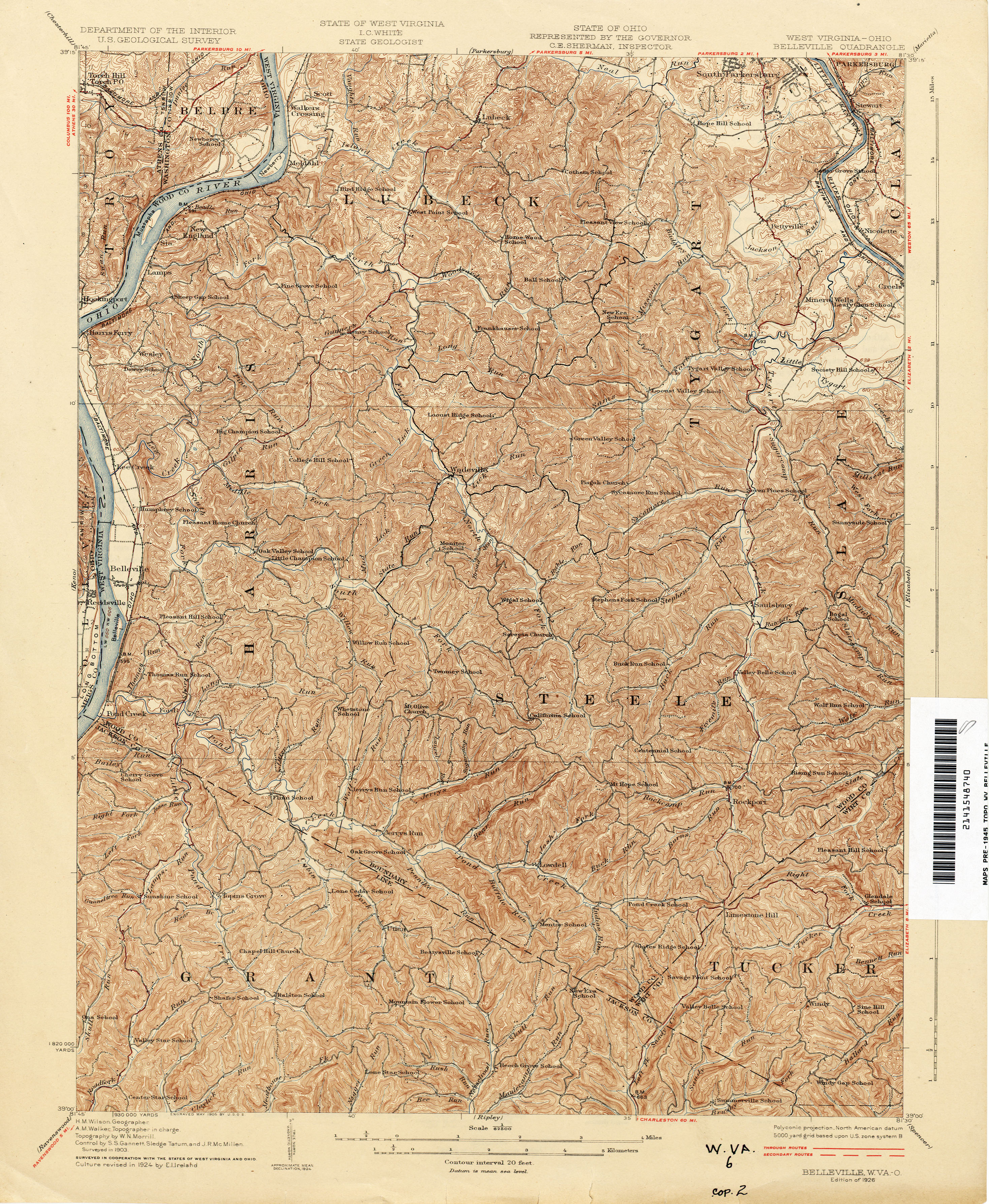 West Virginia Historical Topographic Maps  PerryCastaeda Map