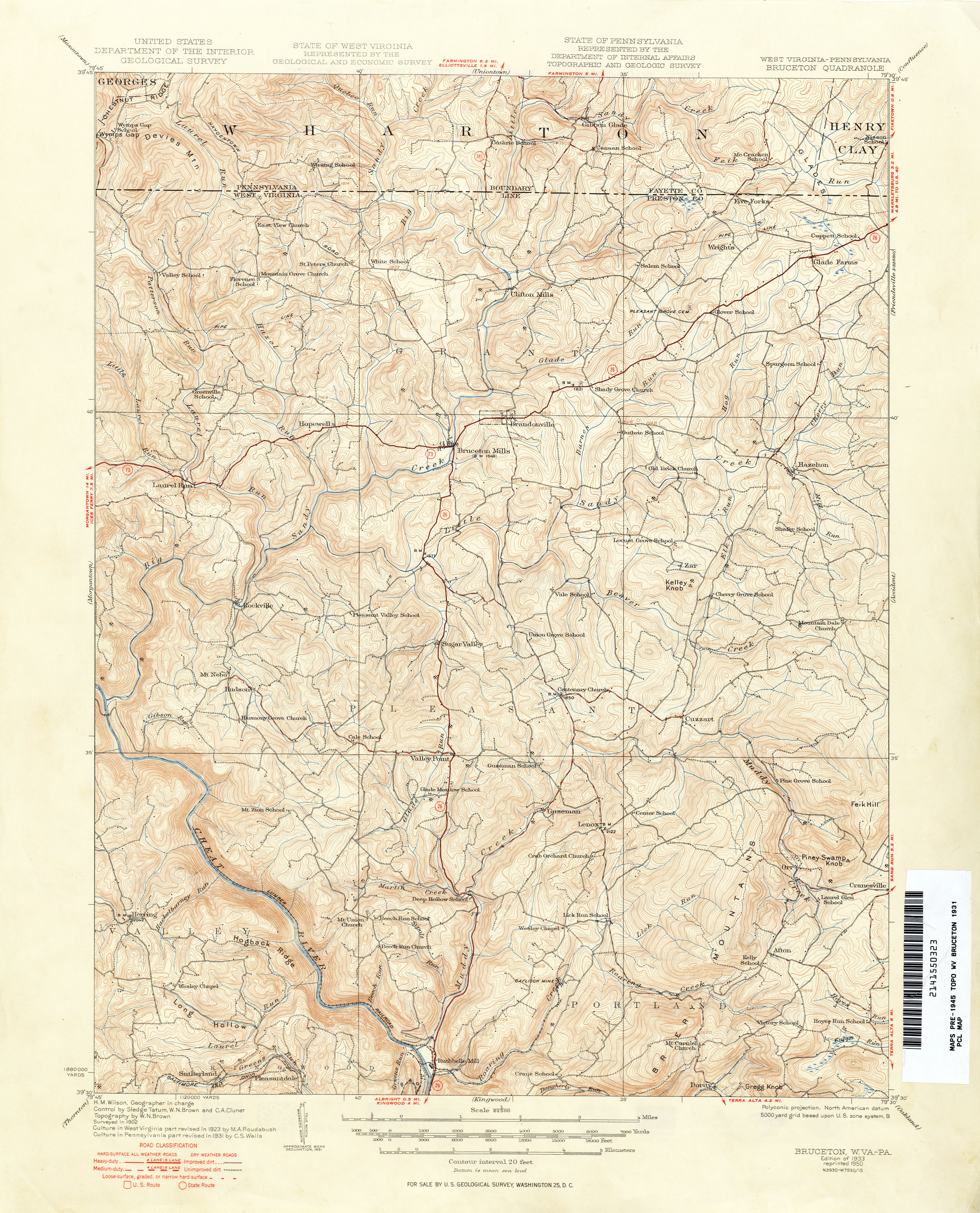 Topographic Map West Virginia.West Virginia Historical Topographic Maps Perry Castaneda Map