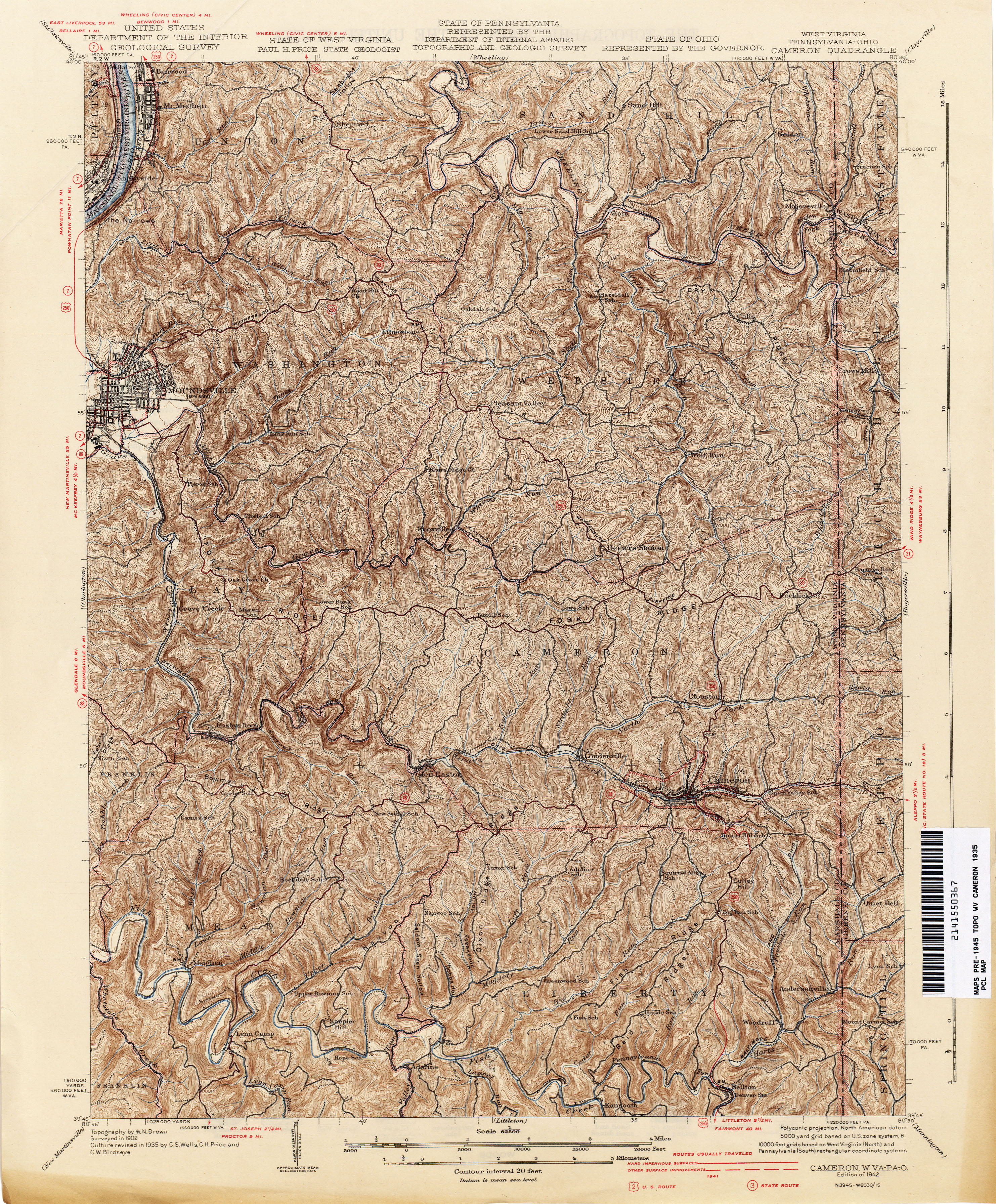 Map Of Ohio West Virginia And Pennsylvania.Ohio Historical Topographic Maps Perry Castaneda Map Collection