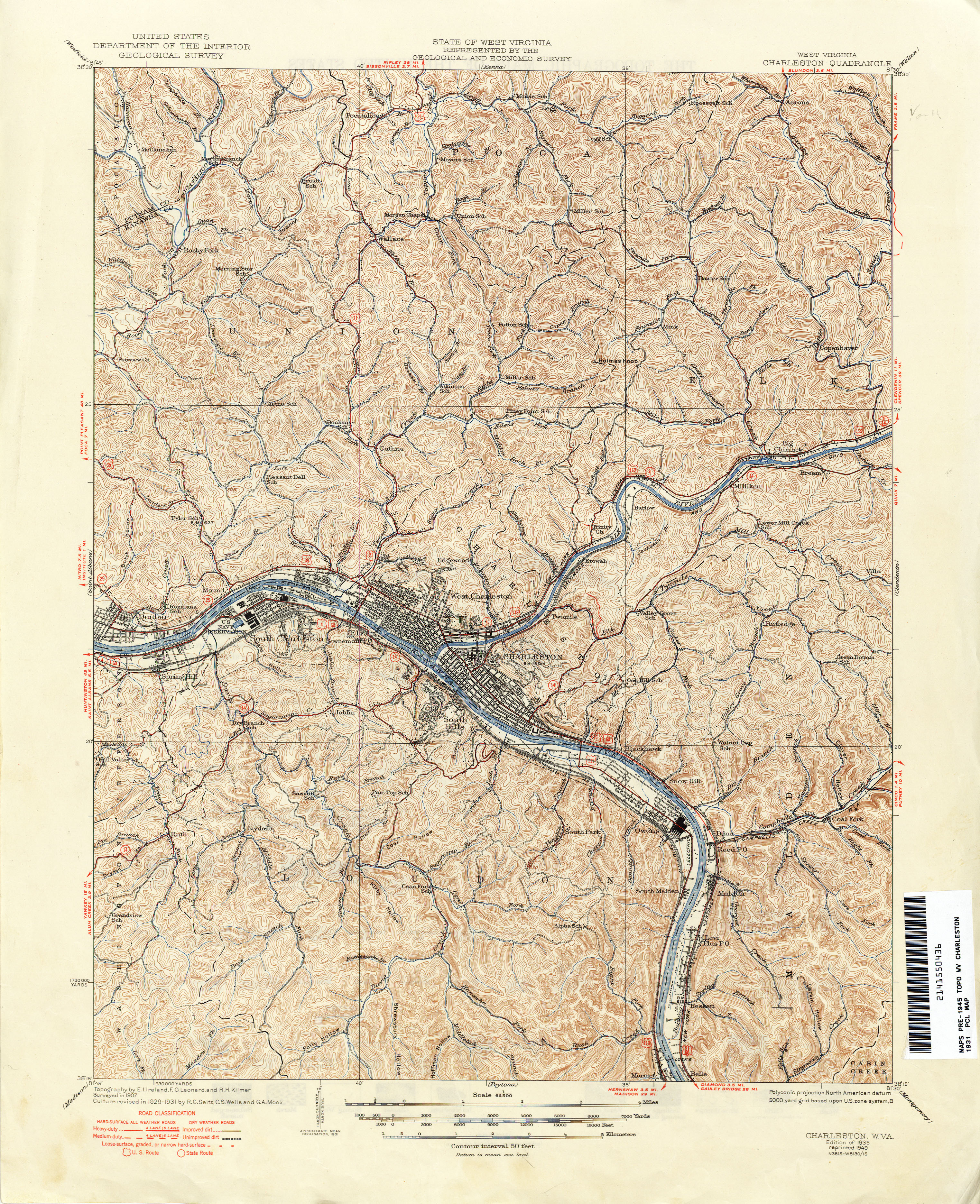 West Virginia Historical Topographic Maps PerryCastañeda Map - West virgina map