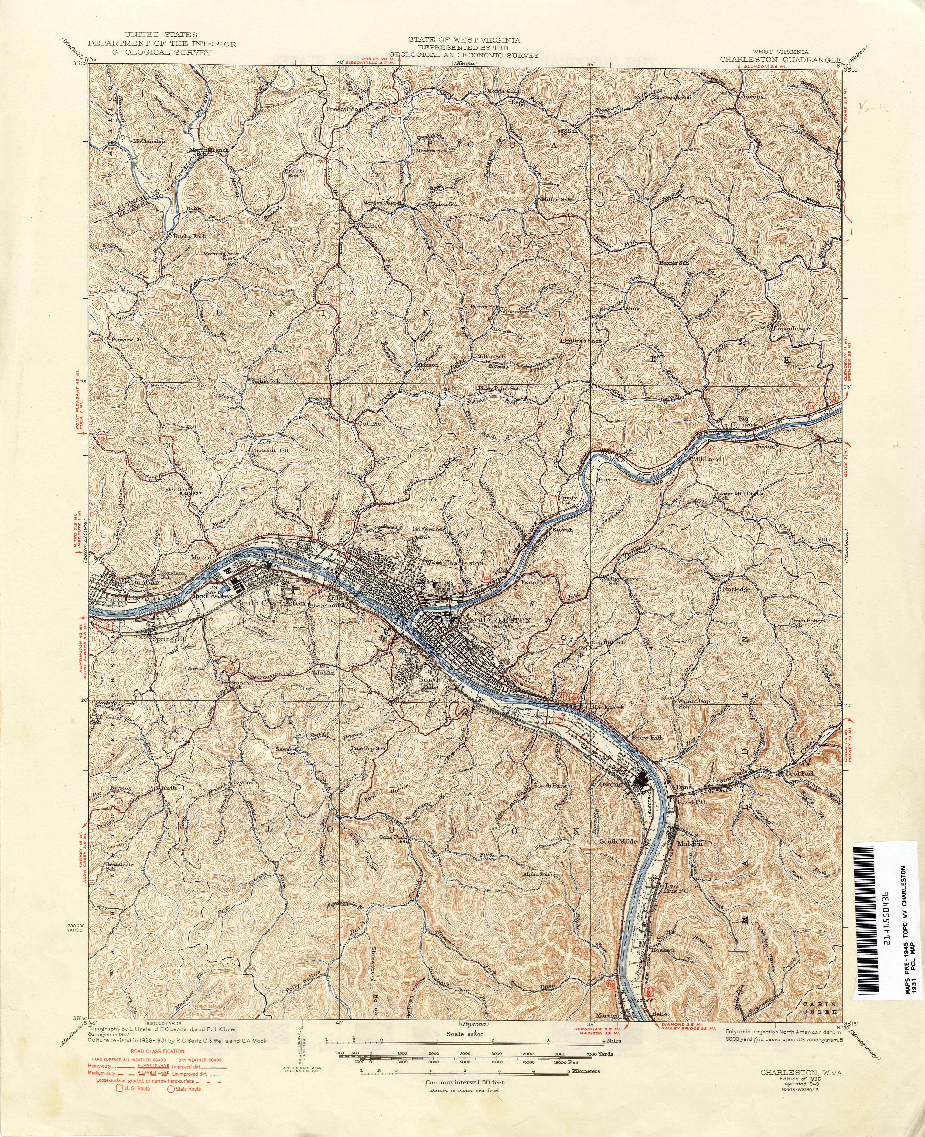 West Virginia Historical Topographic Maps - Perry-Castañeda