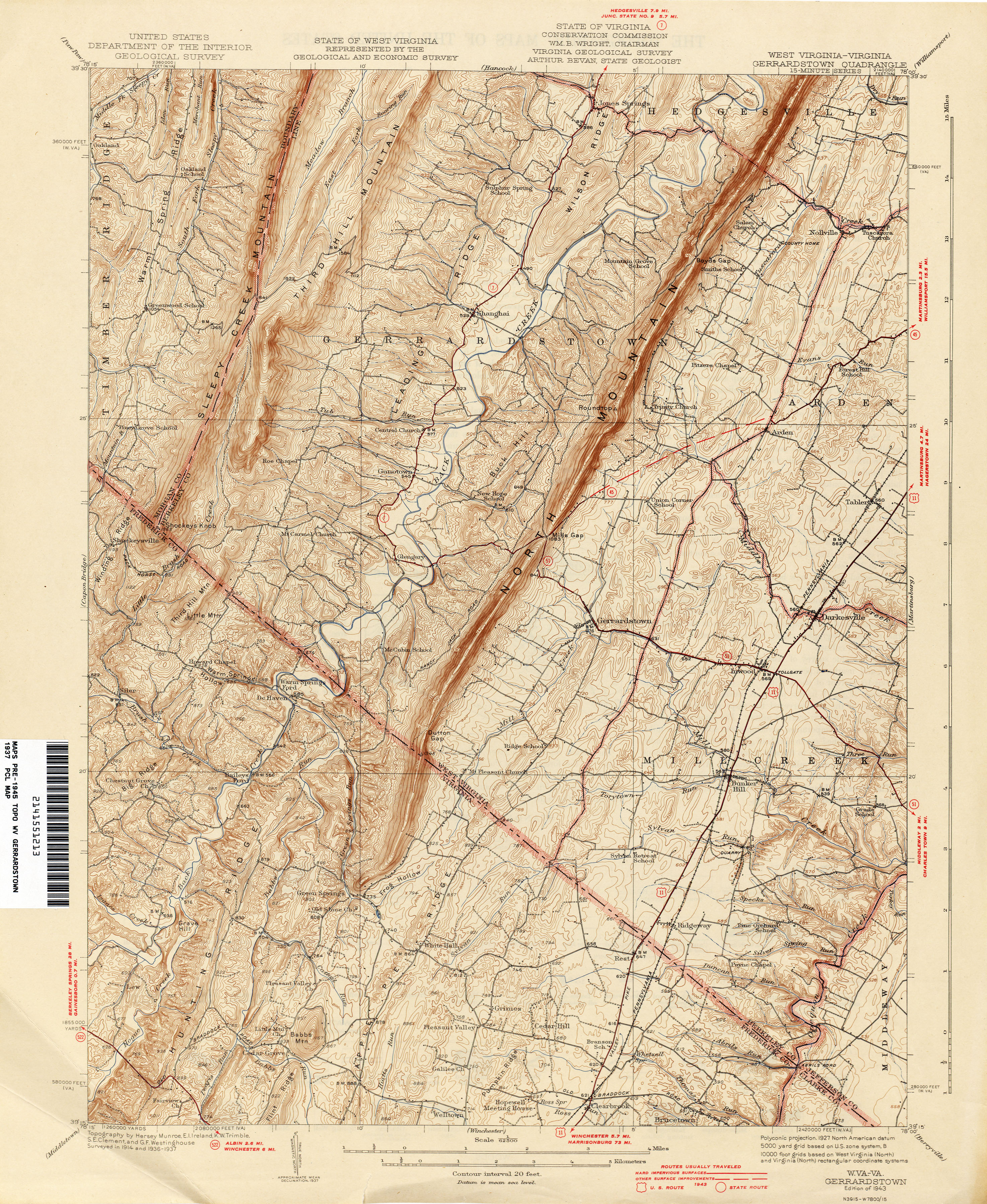 West Virginia Historical Topographic Maps PerryCastañeda Map - West virginia on us map