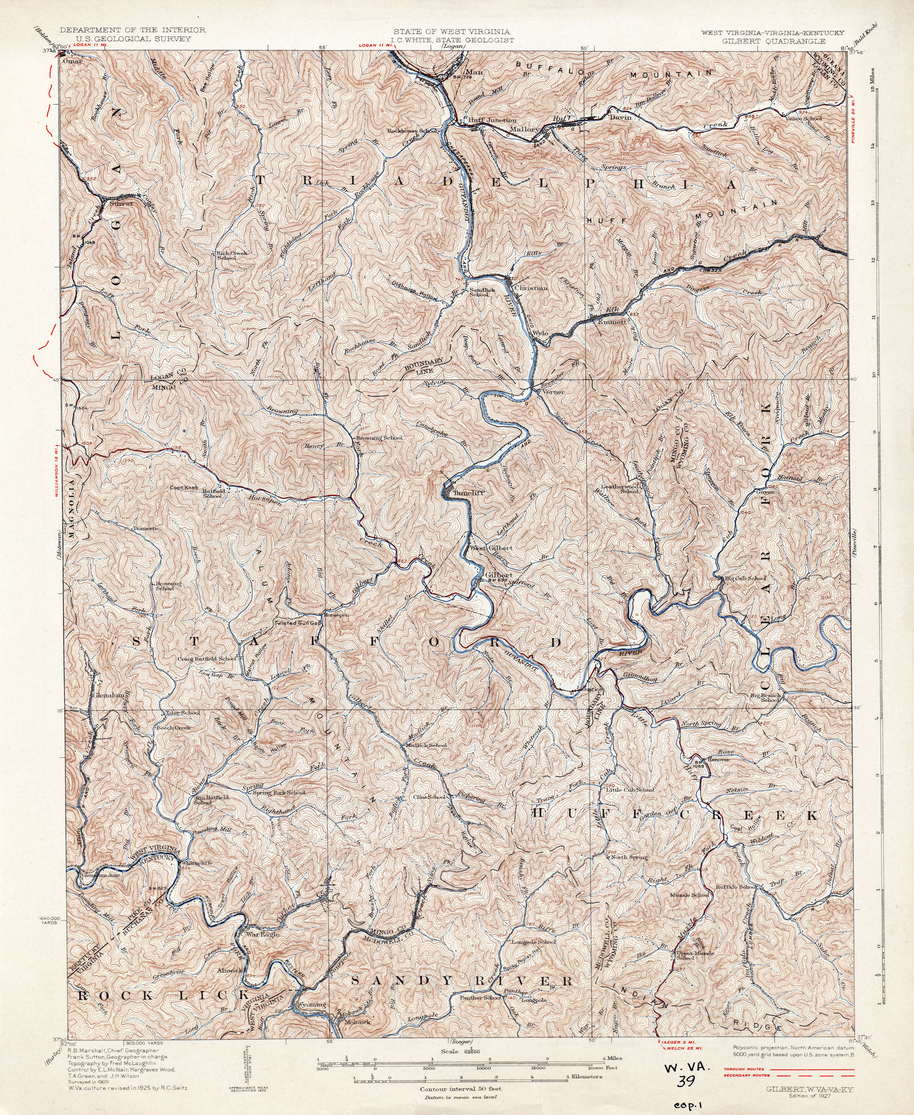 Virginia Historical Topographic Maps PerryCastañeda Map - West virginia on us map
