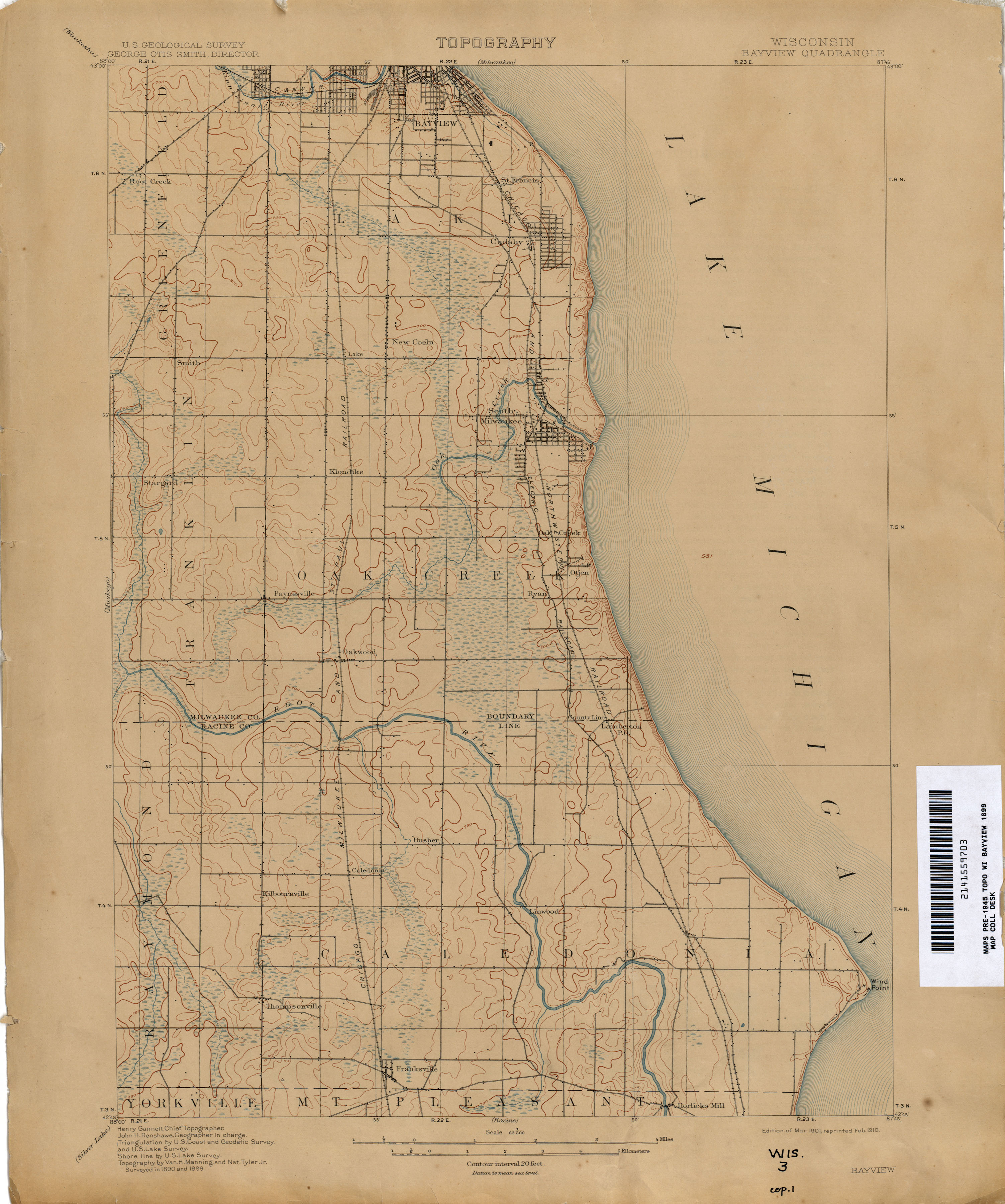 Historical Topographic Maps PerryCastañeda Map Collection UT - Wisconsin topographic lake maps