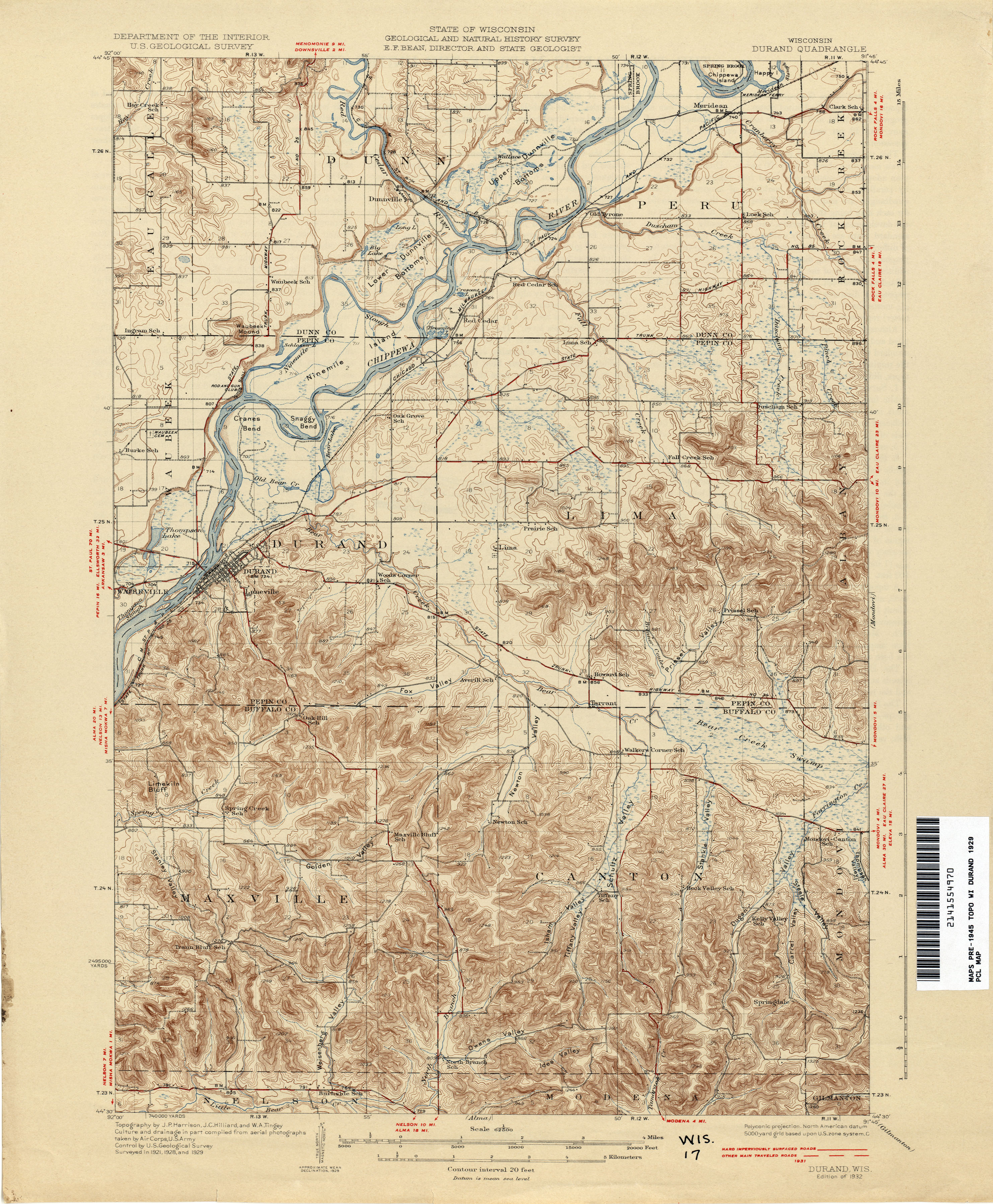 wisconsin historical topographic maps