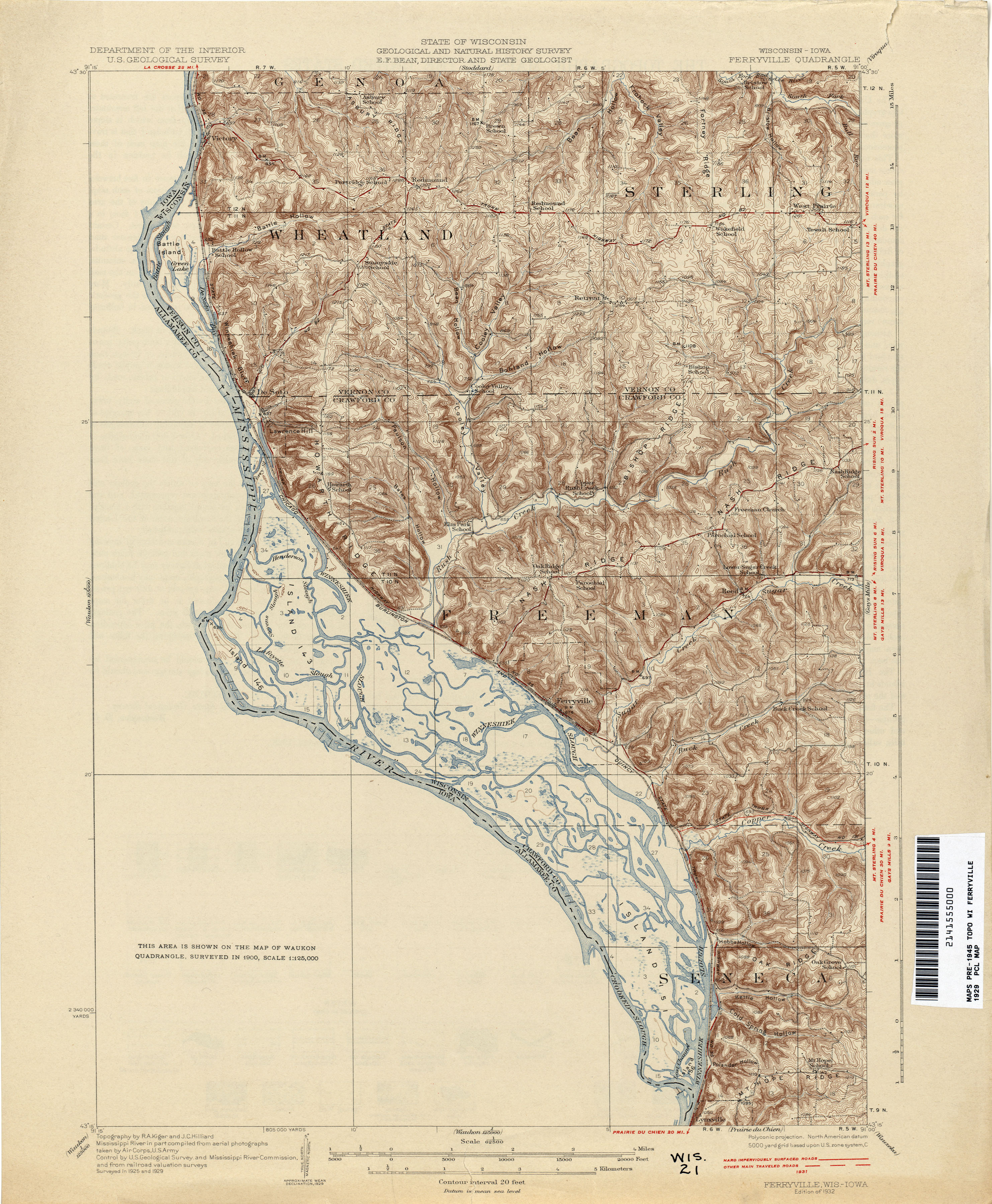 Historical Topographic Maps PerryCastañeda Map Collection UT - A map of wisconsin